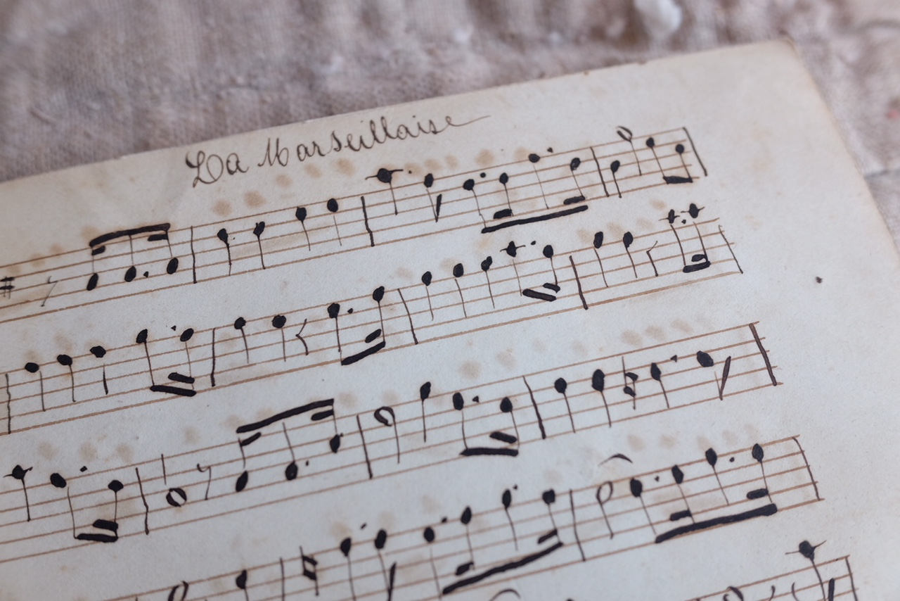 Antique 1800s antique handwritten Piano Music sheets — The French Muse