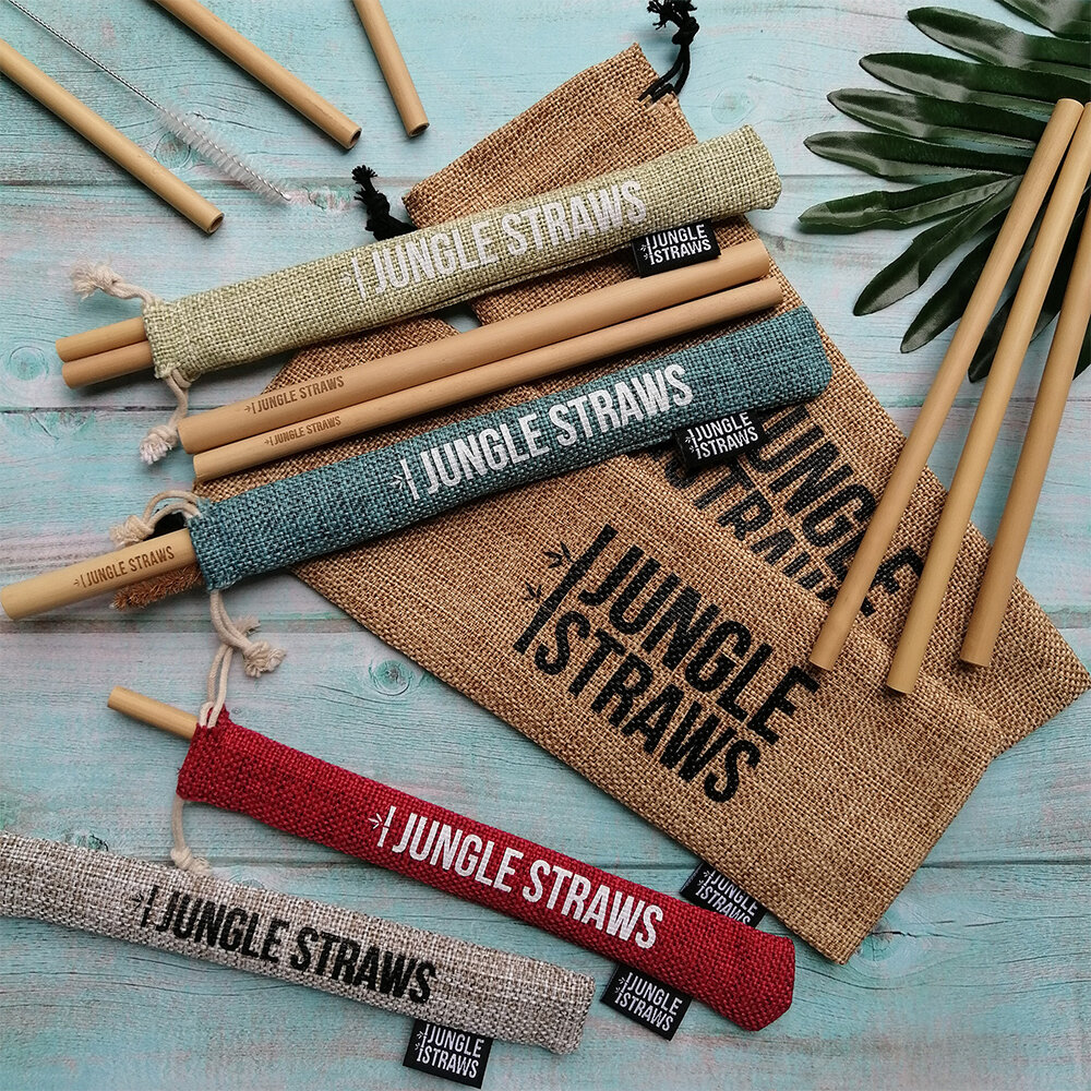 Organic Bamboo Straw Set Jungle Straws Storage Bag /& Cleaning Brush 100/% Natural Reusable Straws Bamboo Drinking Straws Eco Friendly Drinks Plastic Free Packaging Sustainable /& Durable