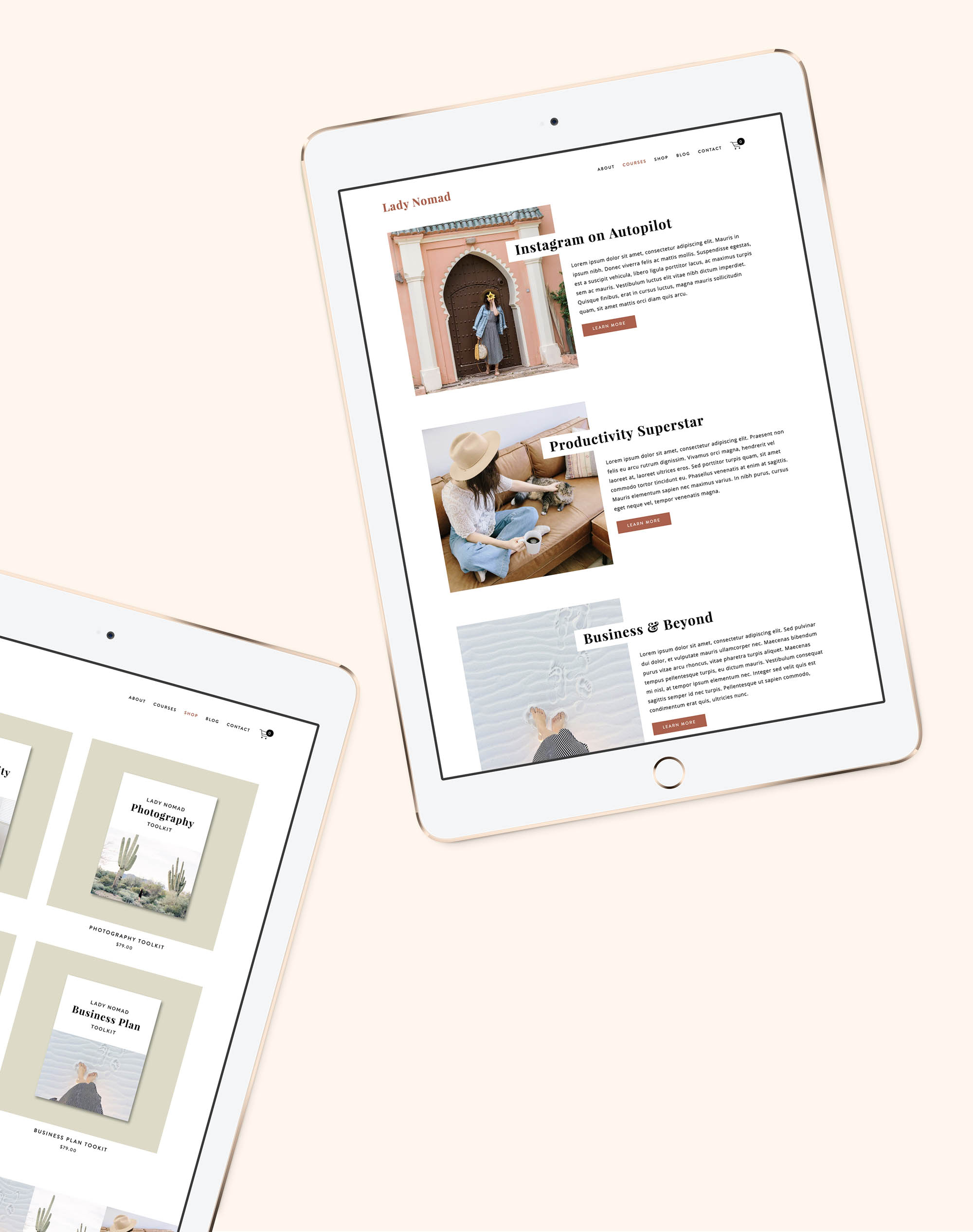 Lady Nomad Squarespace Kit — Station Seven: Squarespace Templates,  WordPress Themes, and Free Resources for Creative Entrepreneurs