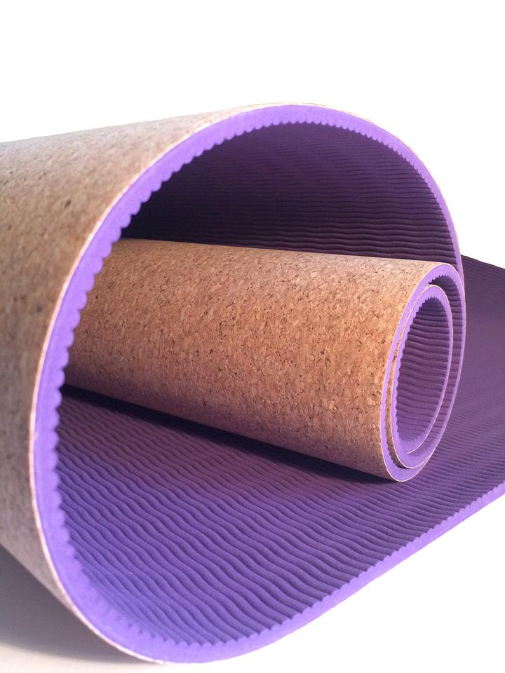 Cork Yoga Mat Purple Palm Wellness