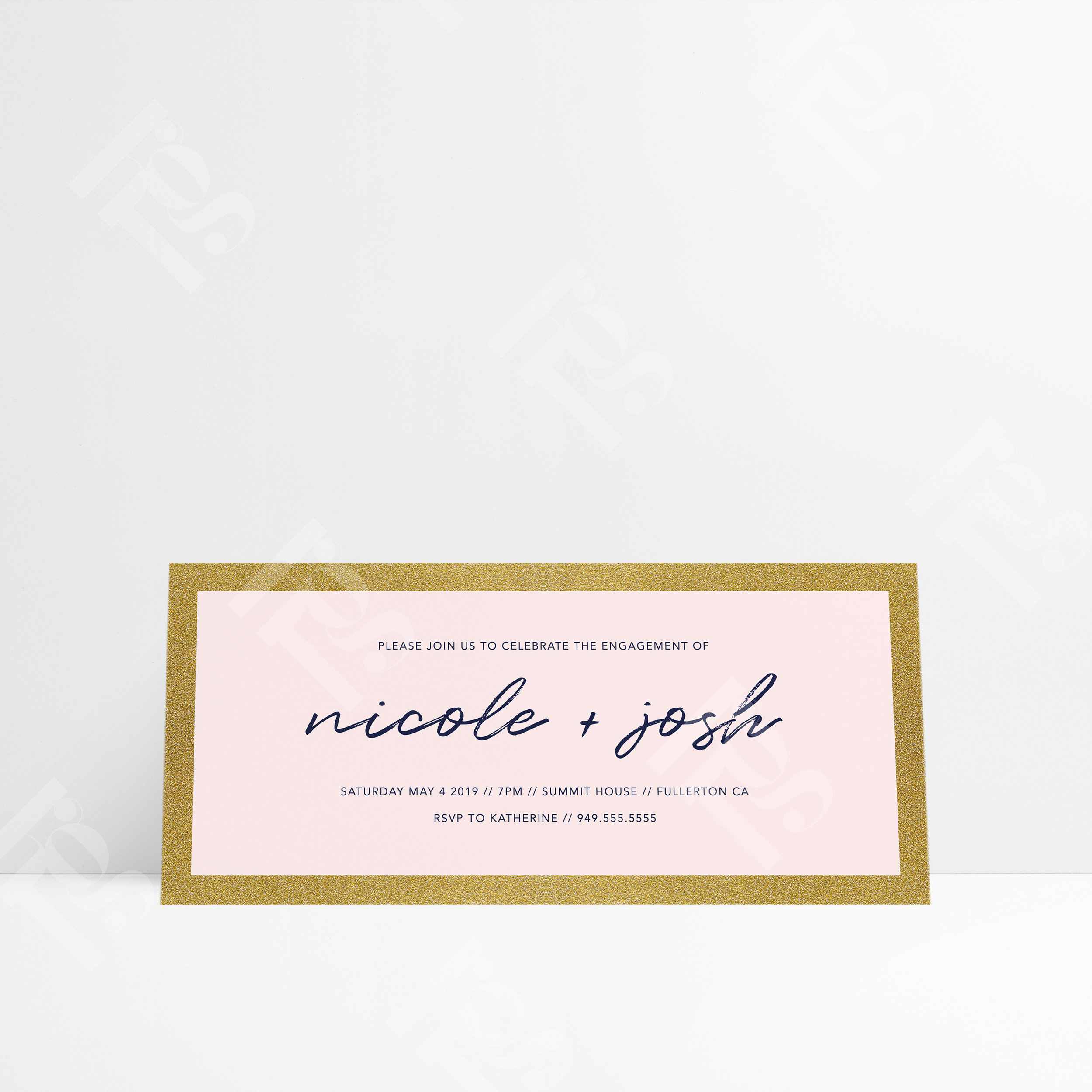 Love Letters Engagement Invitation Hello Good Times