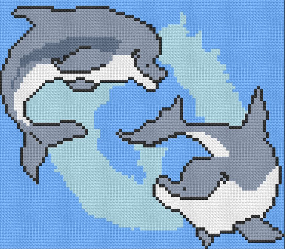 DOLPHIN Afghan pattern Crochet Patterns