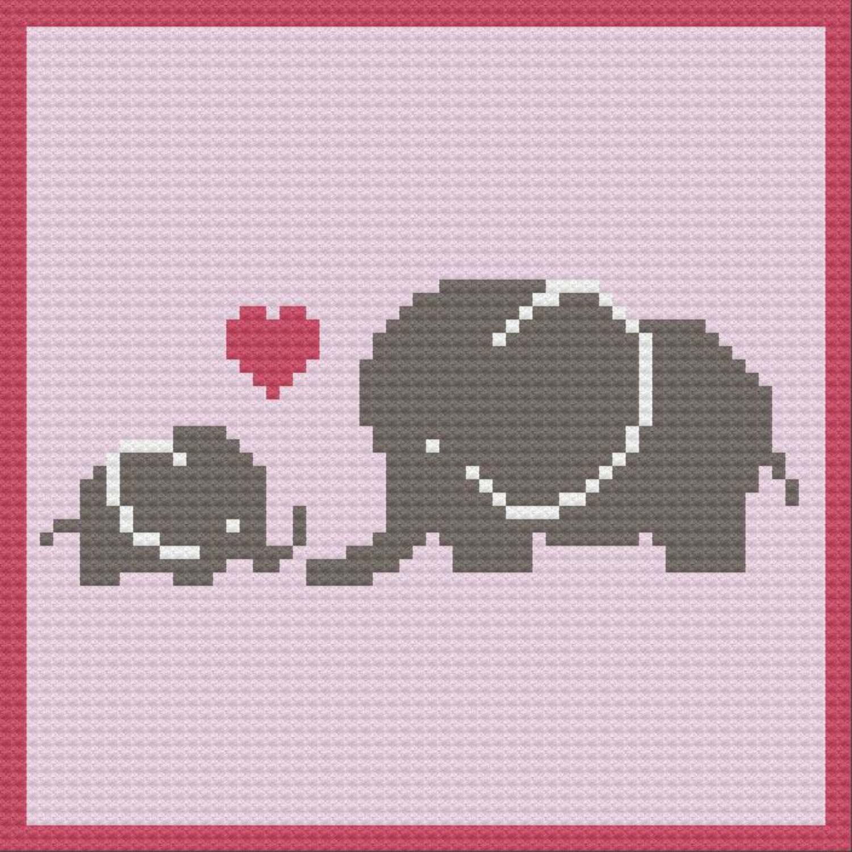 Elephant Baby Shower Crochet Pattern Valentine's Day Love Nap ... | 1000x1000