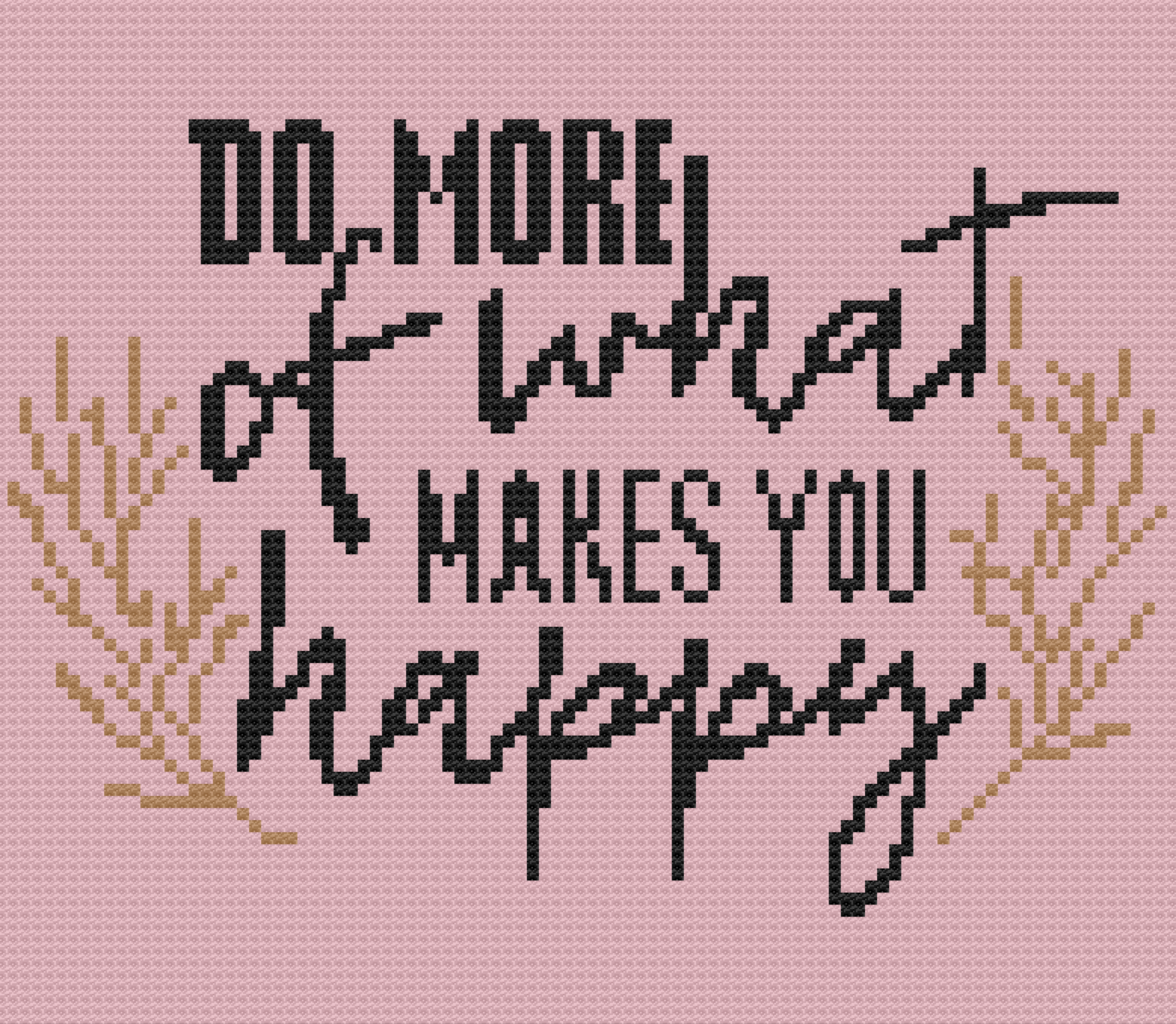Do More of What Makes You Happy Afghan, C2C Crochet Pattern