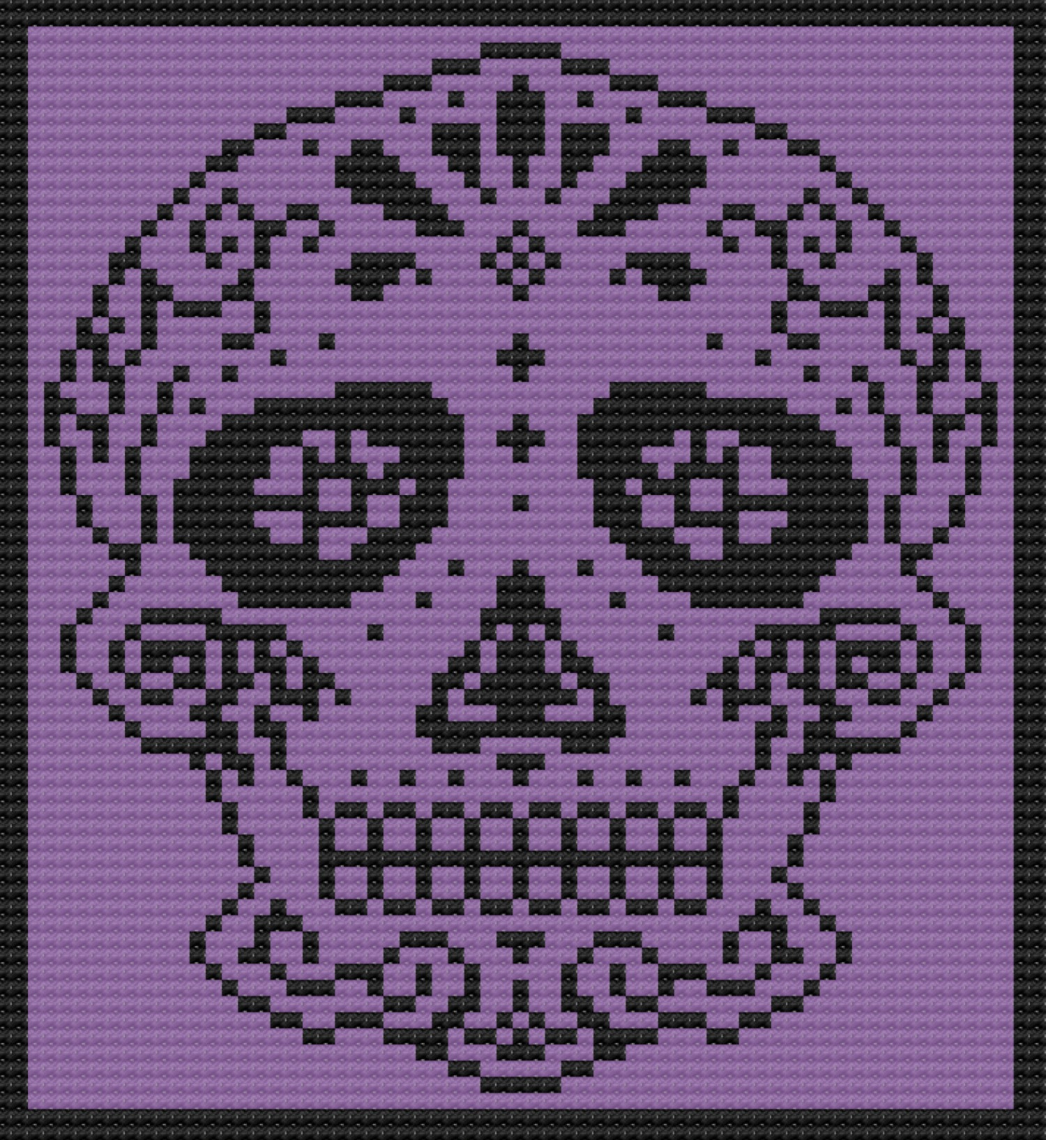 Day Of The Dead Sugar Skull Free Amigurumi Pattern | Crochet skull ... | 1090x1000