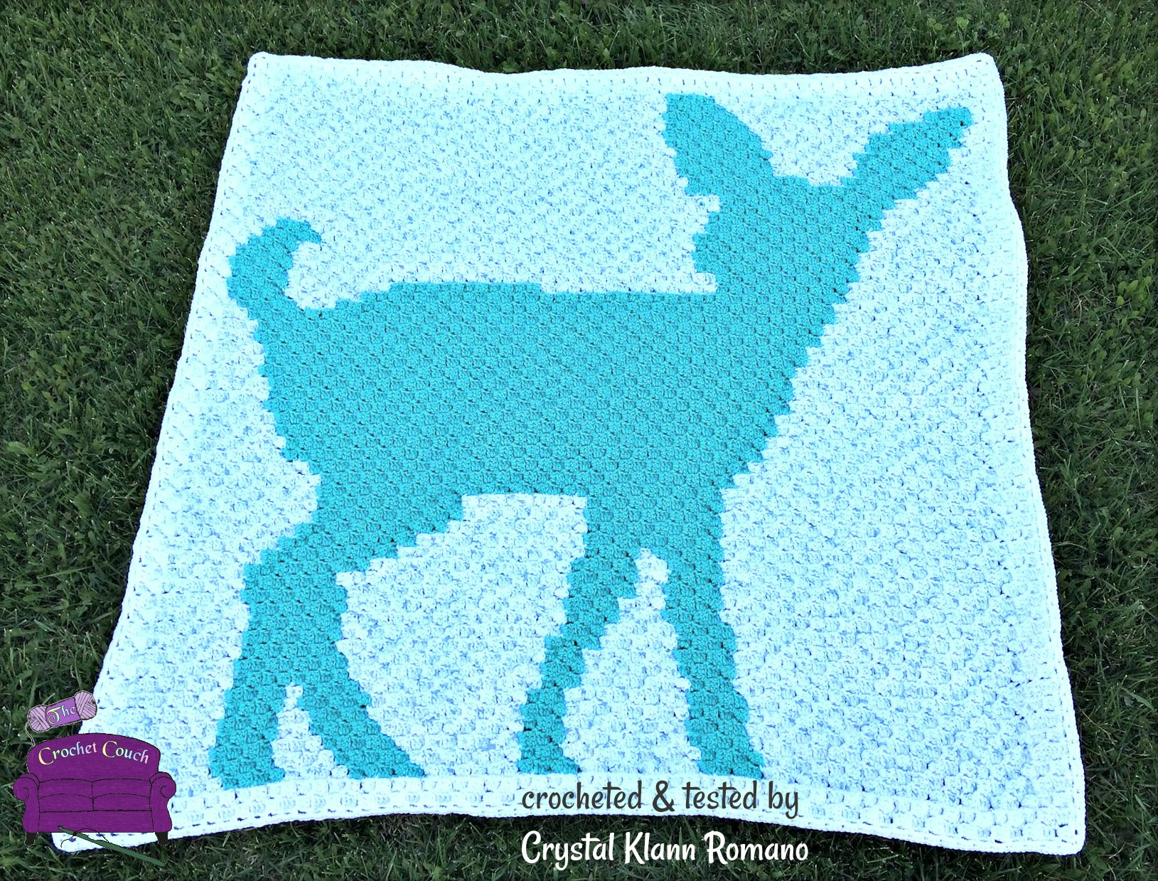 Fawn Silhouette Baby Afghan, C2C Crochet Pattern