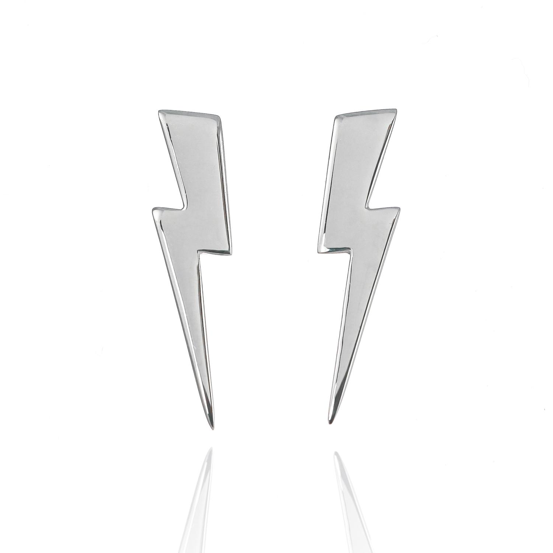 Large Lightning Bolt Earrings Lauren Grace Jewellery