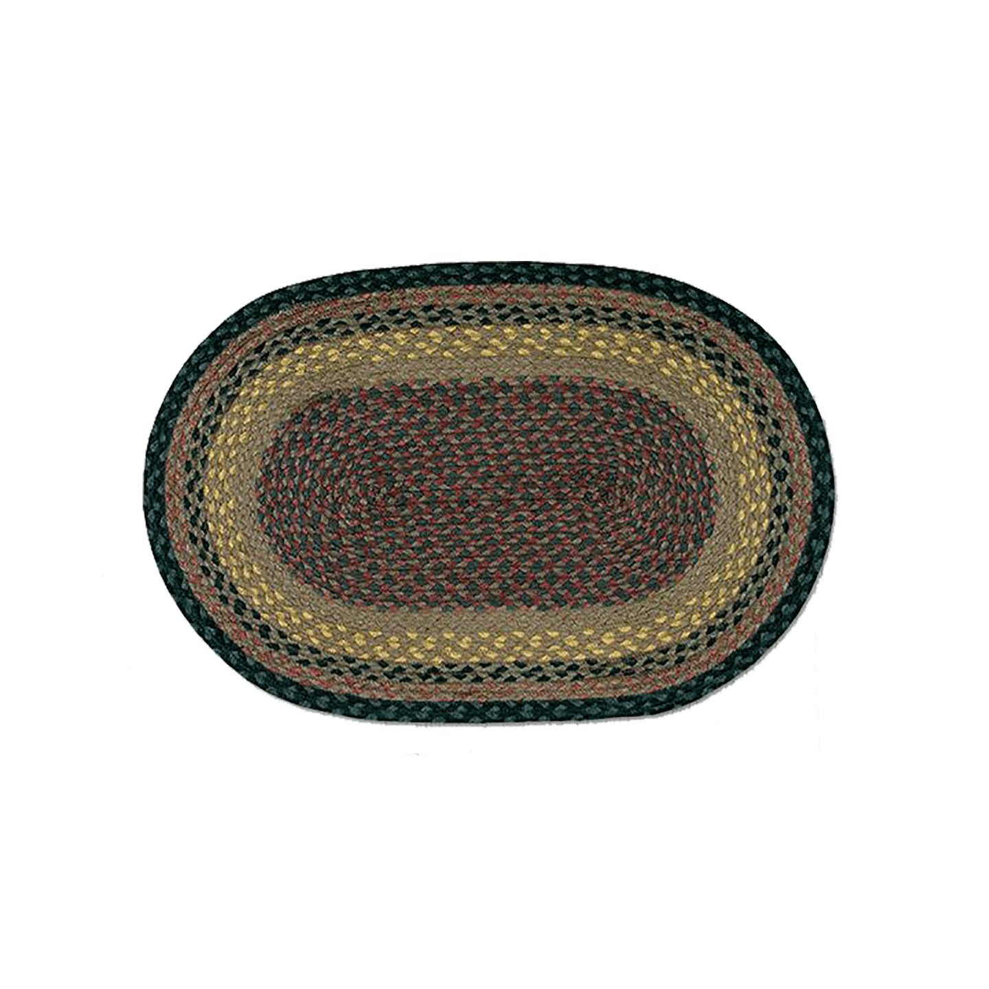 Brown Black Charcoal Oval Braided Rugs Wooden Treasures