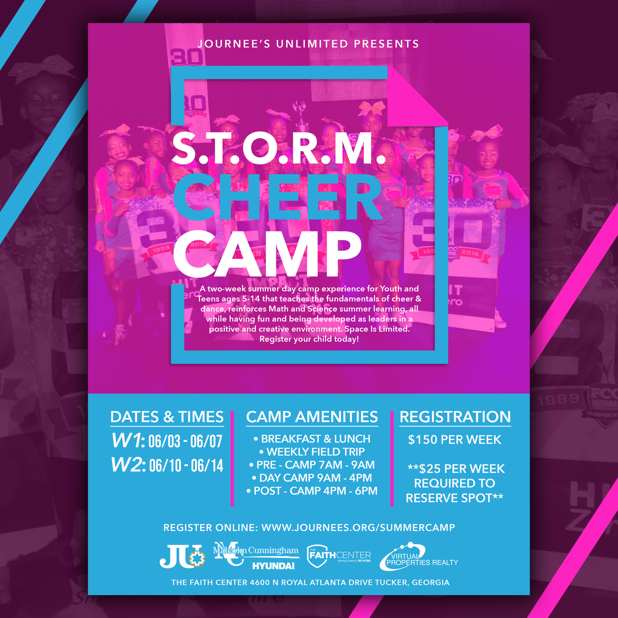 S T O R M Cheer Camp June 10th - 14th — Journee's Unlimited Inc