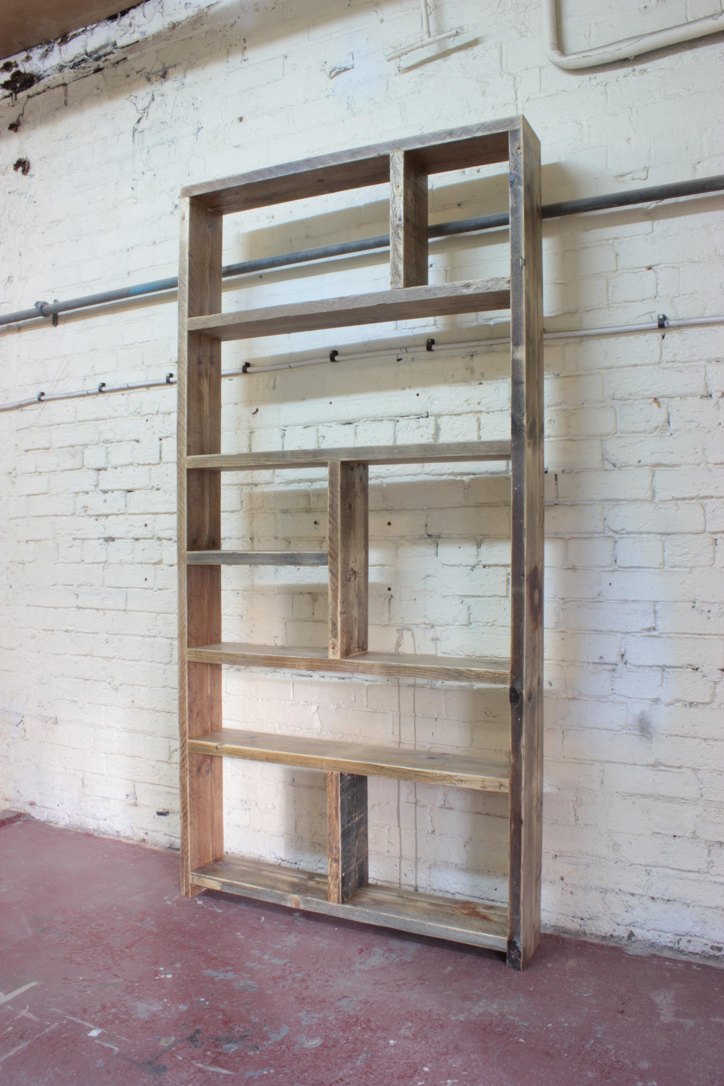 Ernst Reclaimed Wood Bookcase Room Divider Old Man Magpie