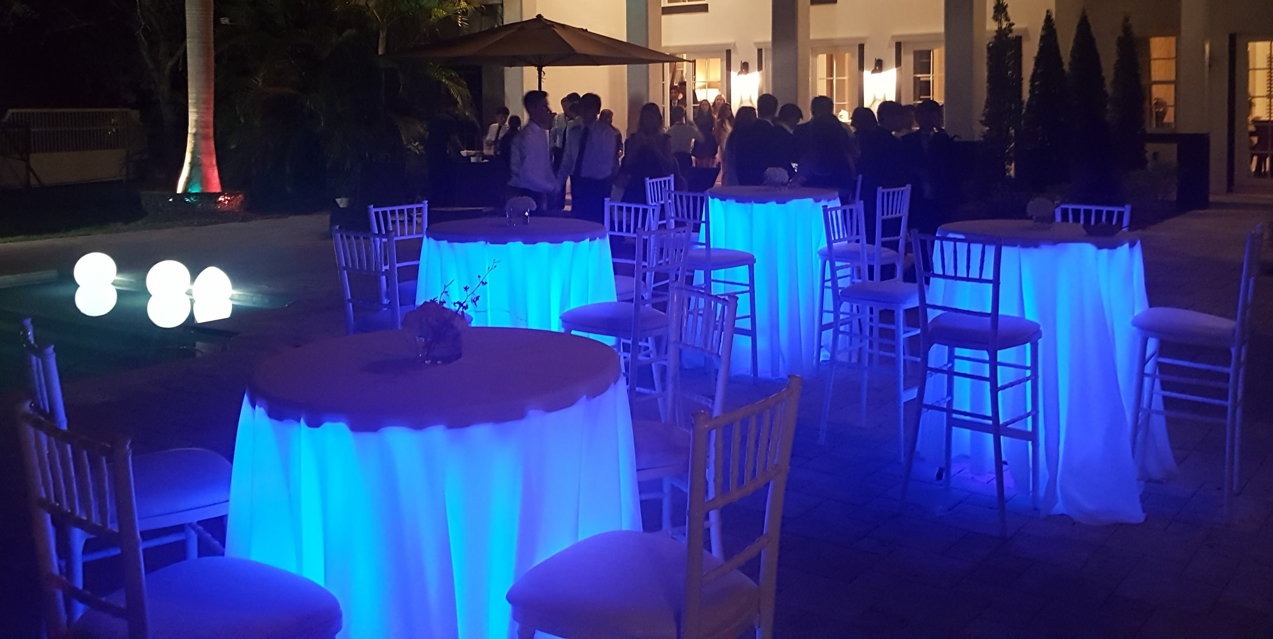 Led Under Tail Table Light Party Als Miami Event Ft Lauderdale Beach Jubilee Al