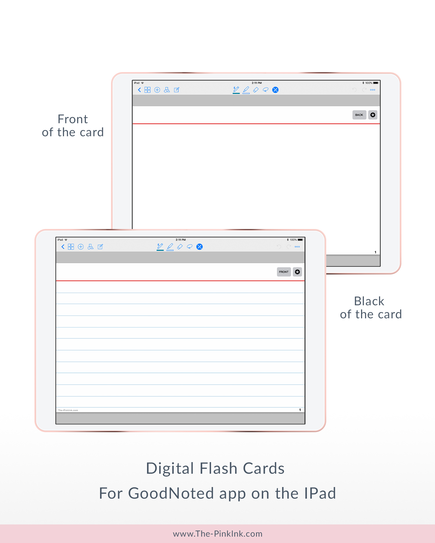 Digital Flash Cards | Hyperlinks | For GoodNotes app | 100 Card Pages — The  Pink Ink