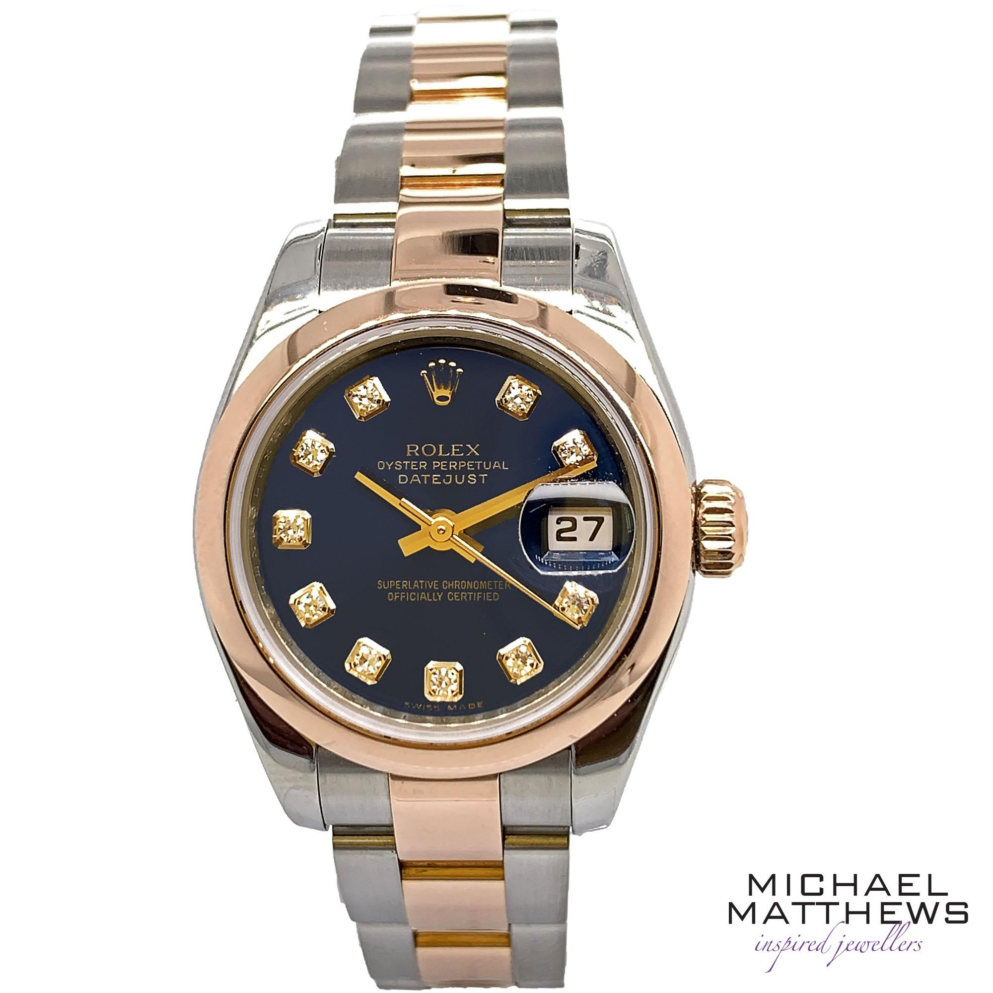 Rolex Datejust 26mm Watch Michael Matthews Jewellery Bournemouth Fareham Jewellers