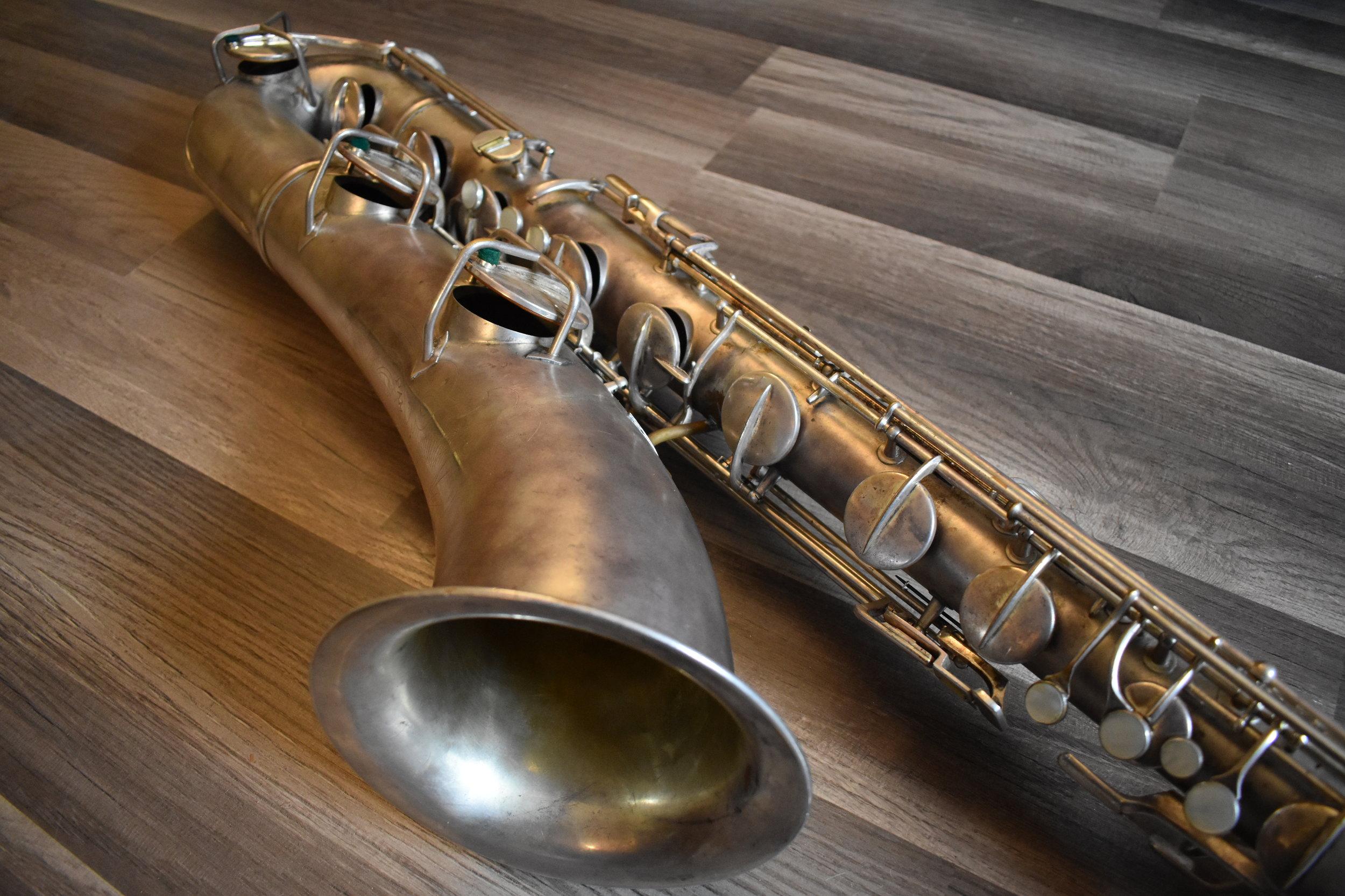 Pan American Baritone Saxophone 46xxx 1931 — KOZY WINDS