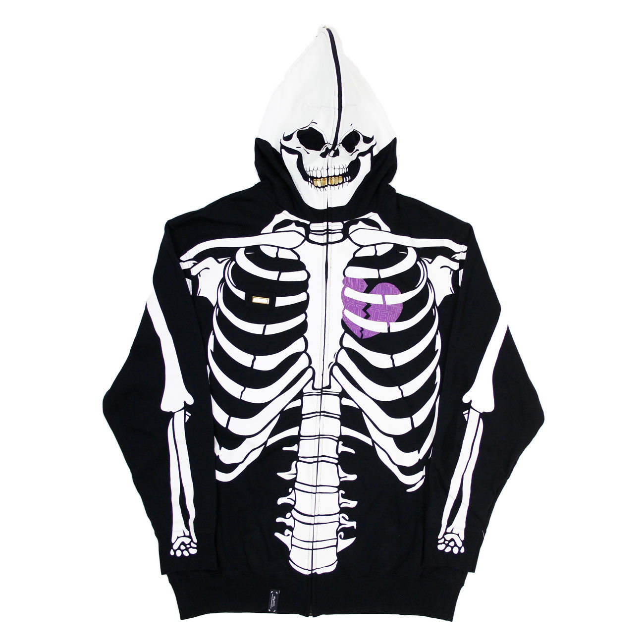 Lrg Dead Serious Skeleton Hoodie 2006 From The Vaults