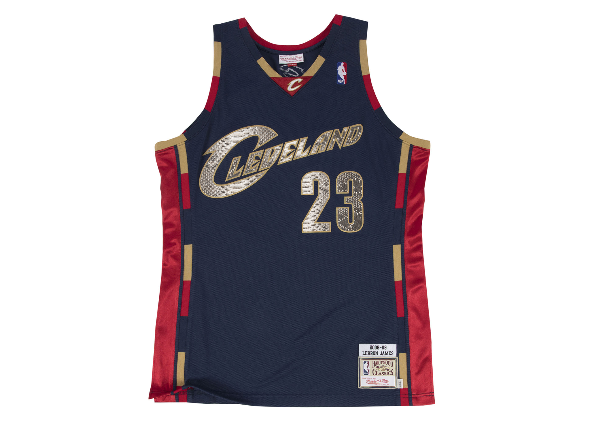 on sale 26915 6a8ad Mitchell & Ness LeBron James 2008-2009 Cleveland Cavaliers Python Jersey —  F R A 3