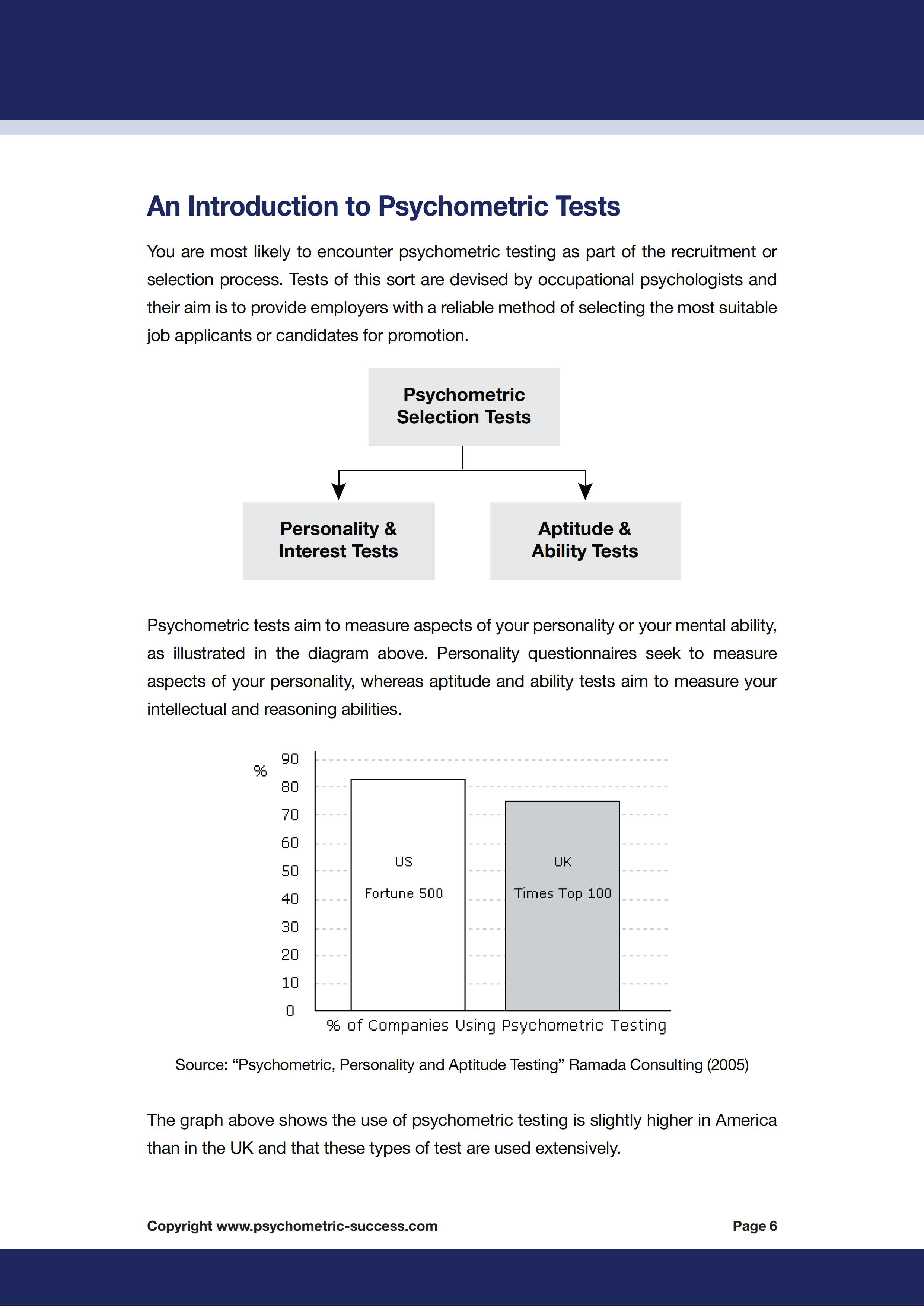 Technical Level eBook — Psychometric Tests