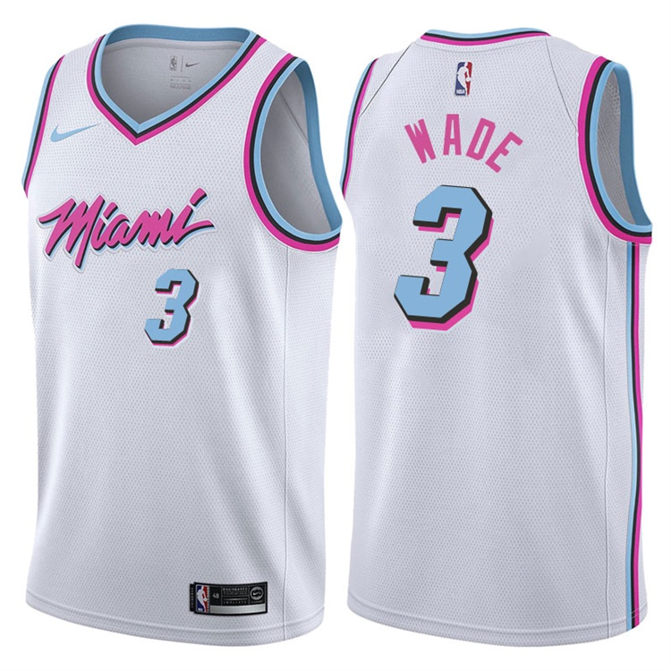 online retailer 40996 474a1 Dwyane Wade Miami Vice (White) — Jersey Cave