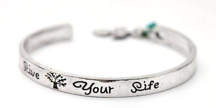 Live Your Life Cuff Bracelet