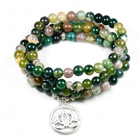 Indian Agate Wrist Mala Bracelet