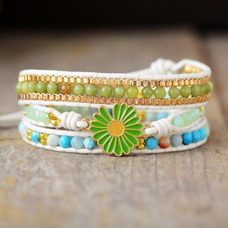 Natural Gemstone Bracelet Handmade Bracelet Yellow Jade Chakra Healing Bracelet Crystal Healing Bracelet