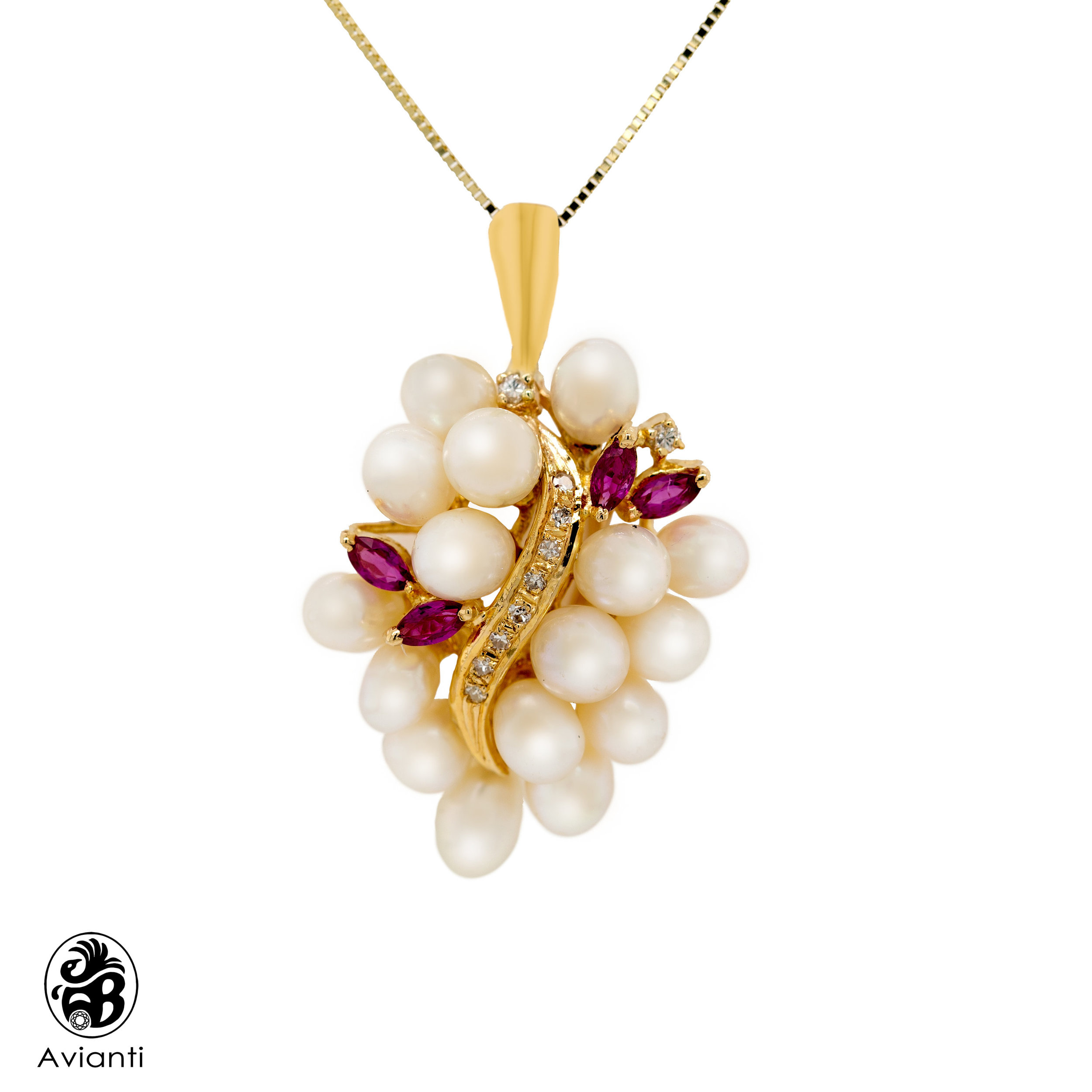 Avianti Vintage Rice Pearl Pendant Jewelry Gifts