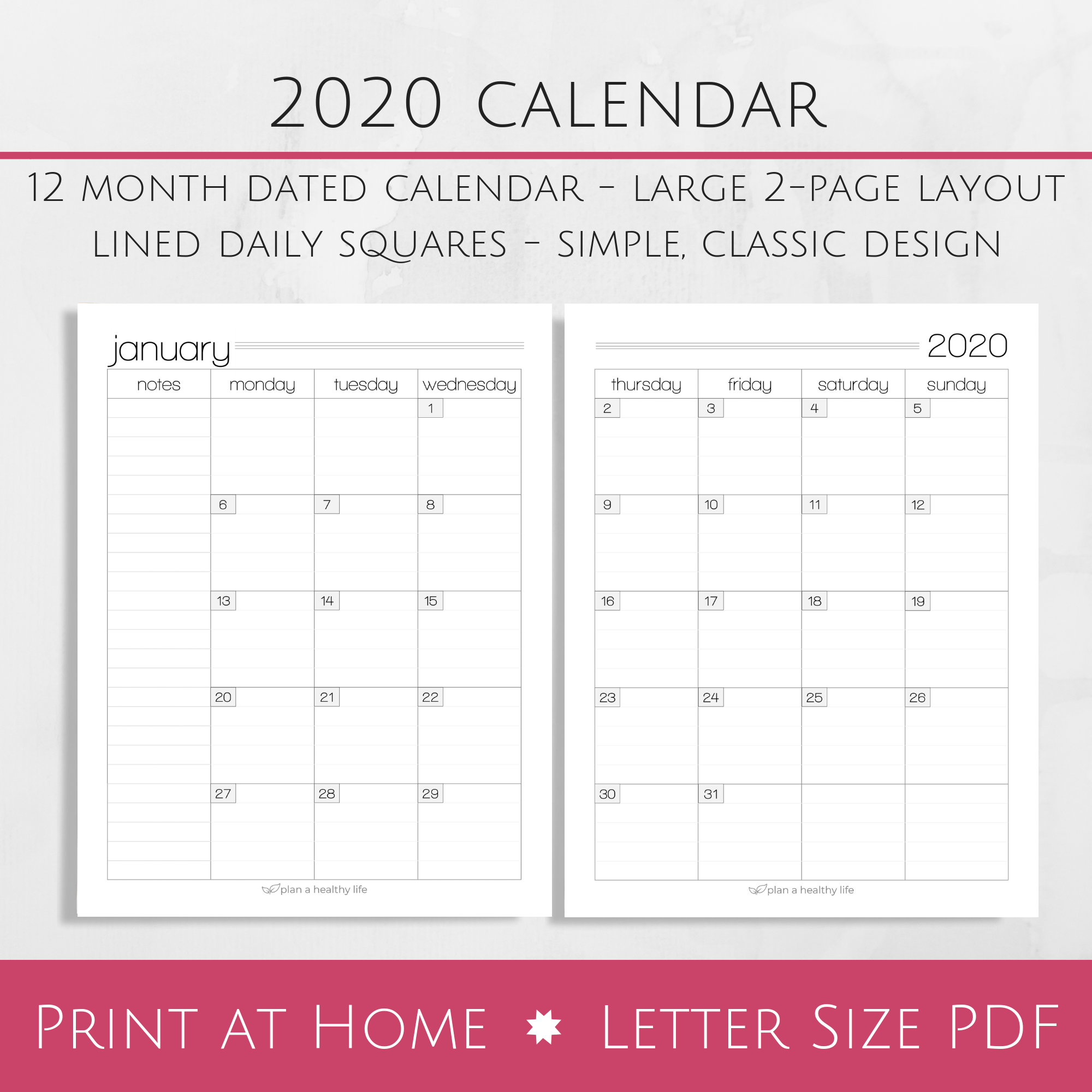 Two Page Monthly Calendar Template from images.squarespace-cdn.com