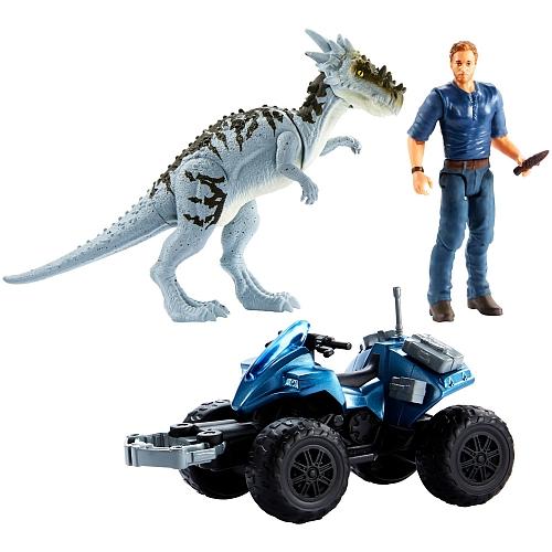 Jurassic World Dino Rivals Owen & Dracorex Off-Road ATV Tracker Story Pack  — Jurassic World Toys | Dinosaur Toys | Gifts | Figures