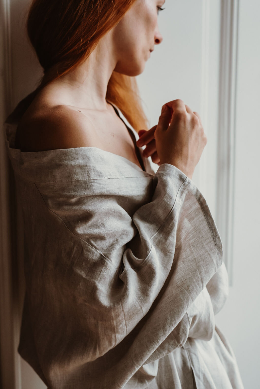 Handmade Linen Bathrobe Tautanz Conscious Luxury