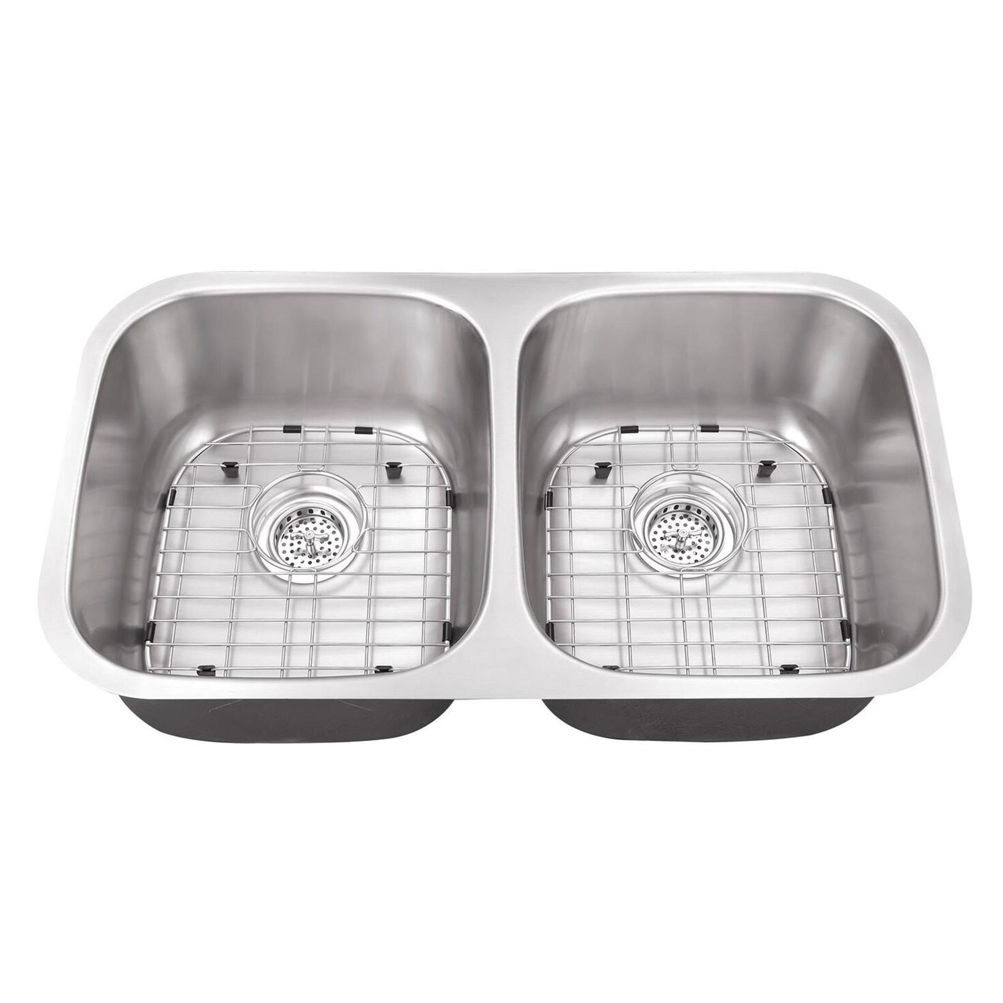 Undermount 32-1/4 in. 50/50 Bowl 16 Ga. Stainless Steel Kitchen Sink —  Cahaba Designs