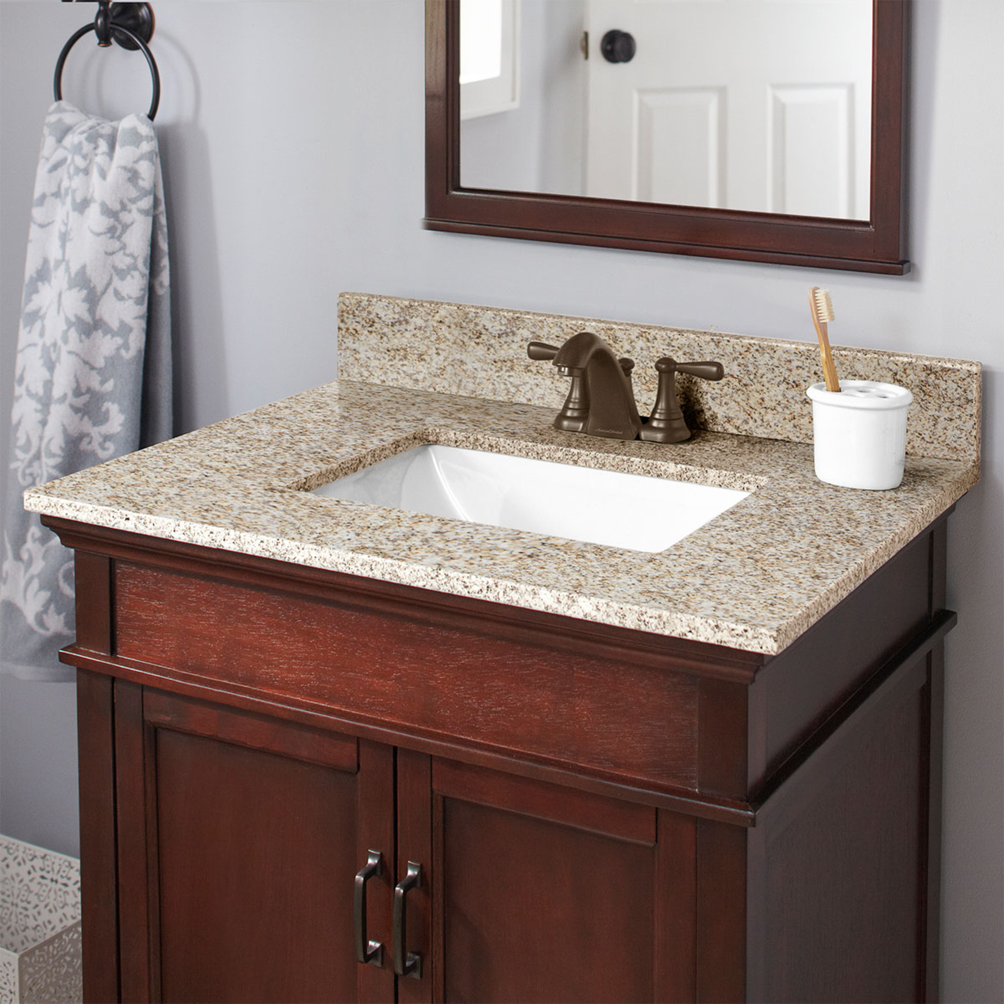 Granite Vanity Top And 4 In Spread