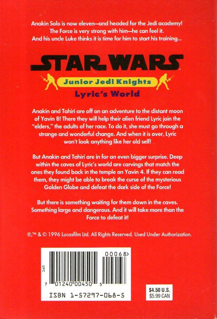 Star Wars Junior Jedi Knight: Lyric's World Novel — Lucky Target Comics