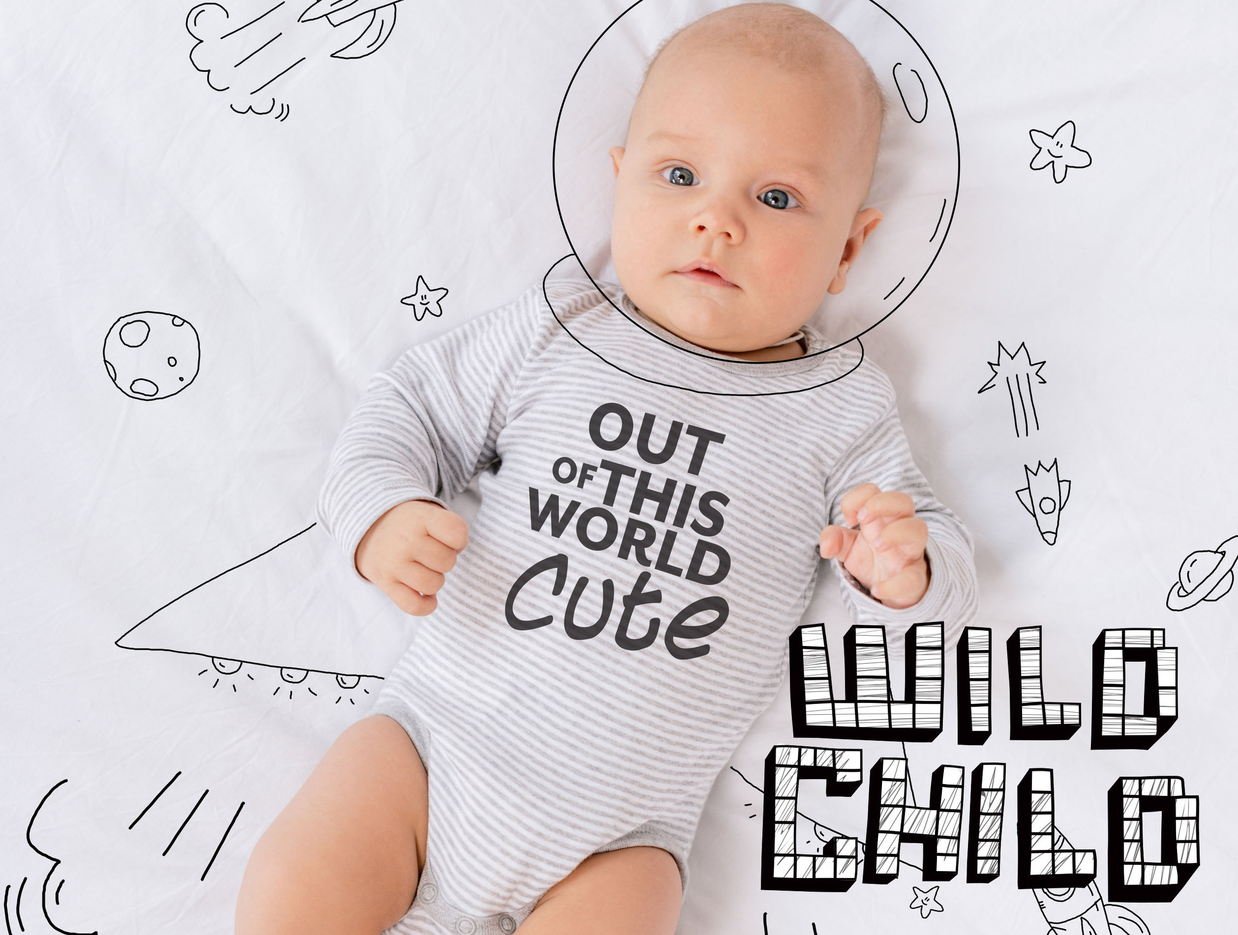 You can't take yourself too seriously when considering our Wildchild assortment of graphic tops, tees and bibs. Trendy, irreverent and often hilarious, they're the perfect choice for discerning babies everywhere!