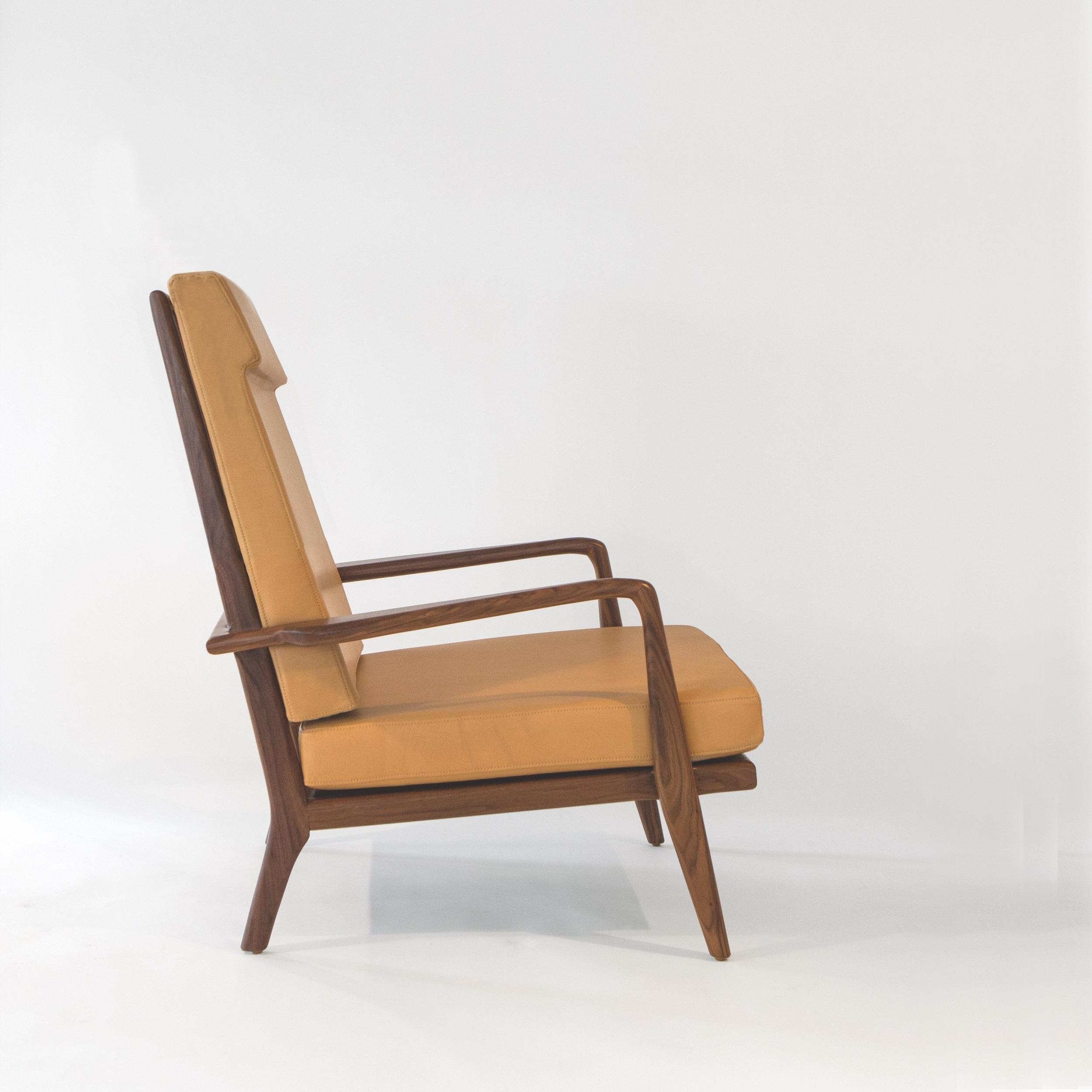 Rail Back High Back Lounge Chair Hwac 44 Smilow Design