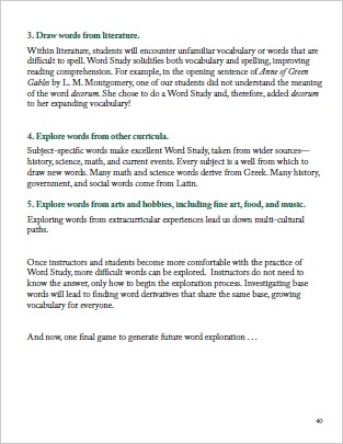 The Word Study Curriculum \u2014 Rooted in Language