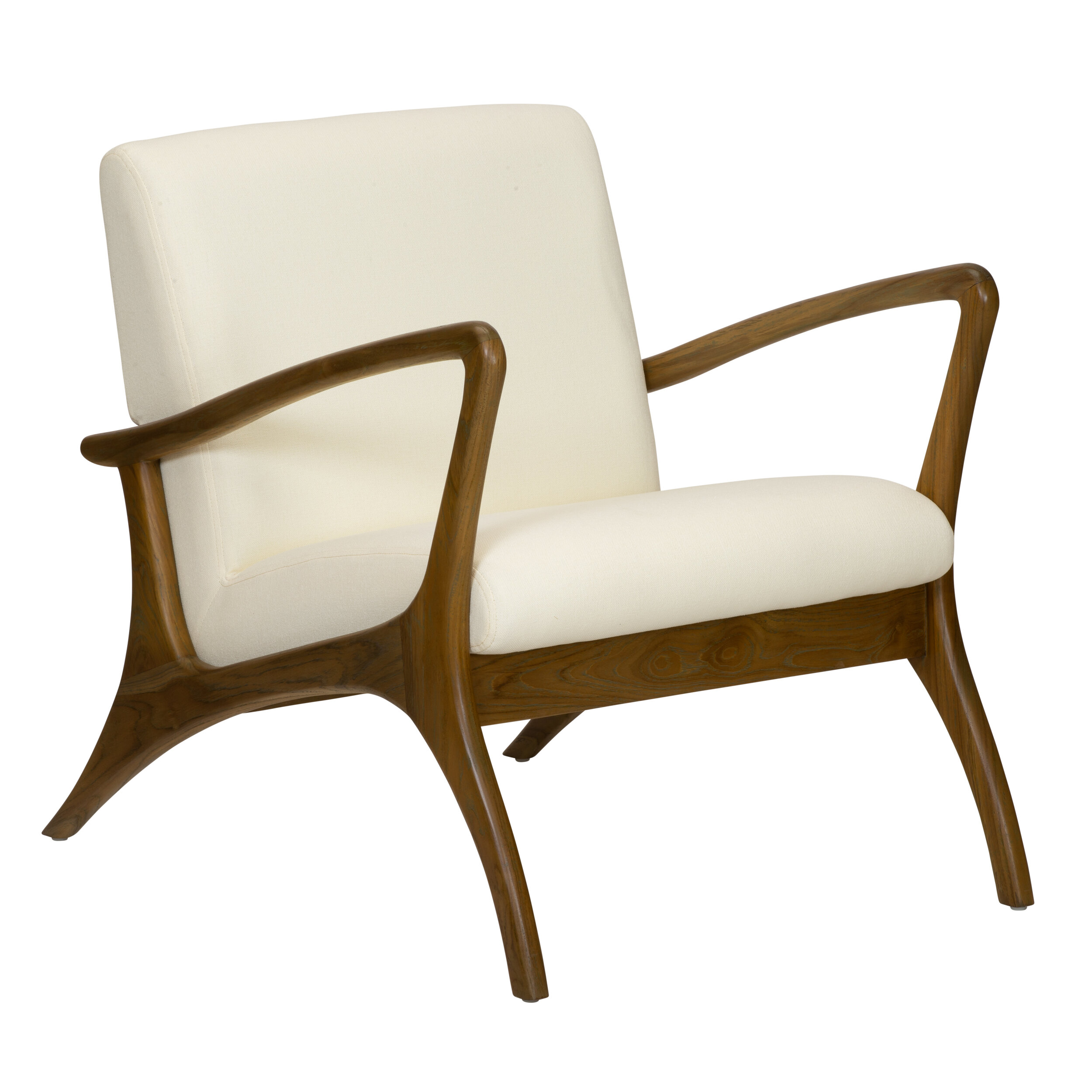 Soren Ventura Lounge Chair In Natural Selamat