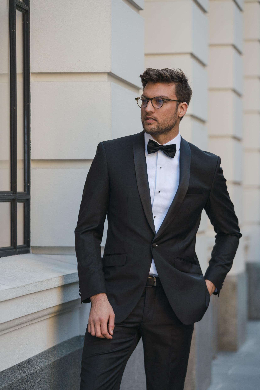 finest selection b82ce 1d43a Daniel Hechter Black Wool Shawl Lapel Tuxedo — Ron Bennett Menswear