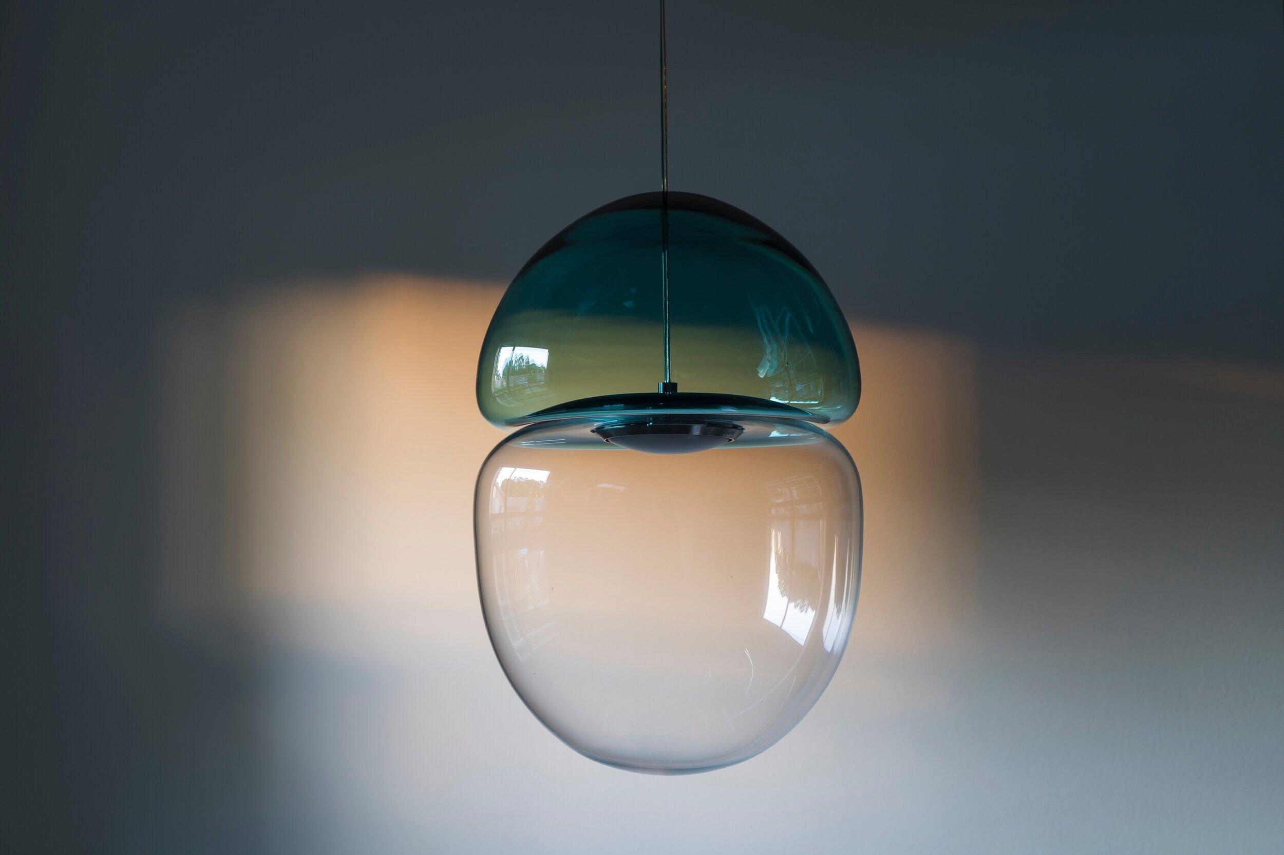 Dew Drop Hand Blown Glass Pendant Lamp Ocrum