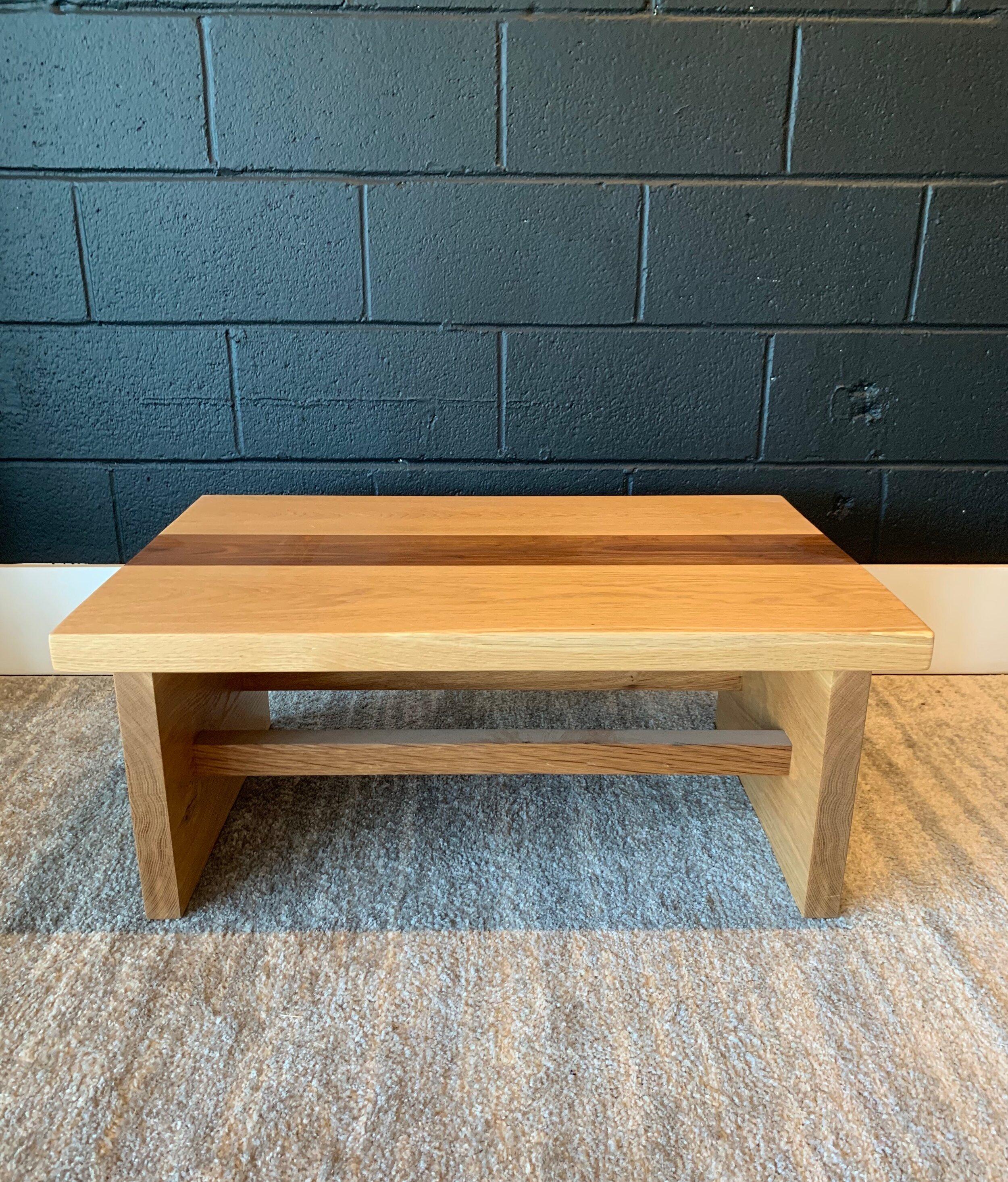 Oak Walnut Coffee Table Good Wood
