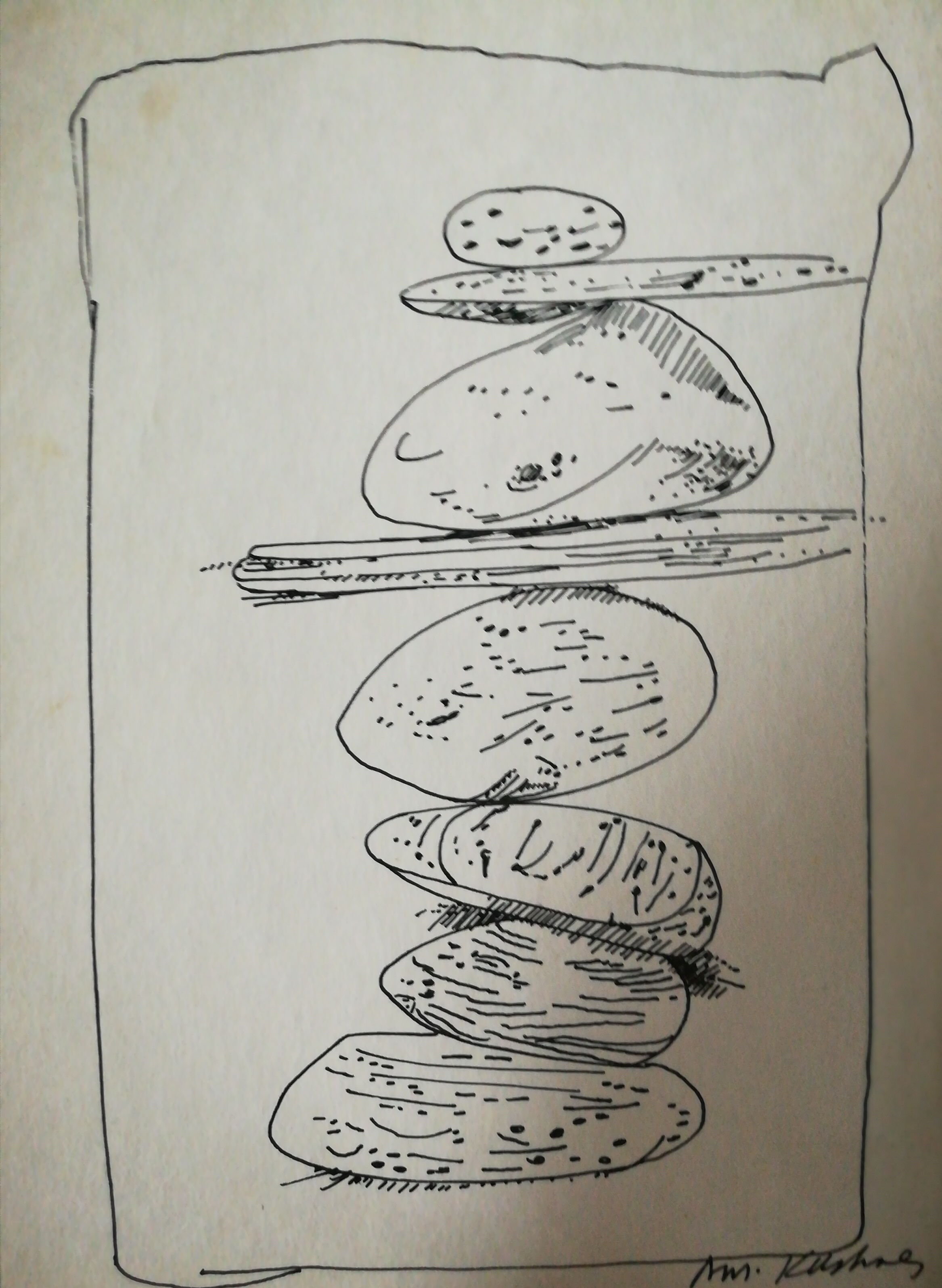 Ink Drawing Of Stacked Rocks Art The Unique Perspective Of