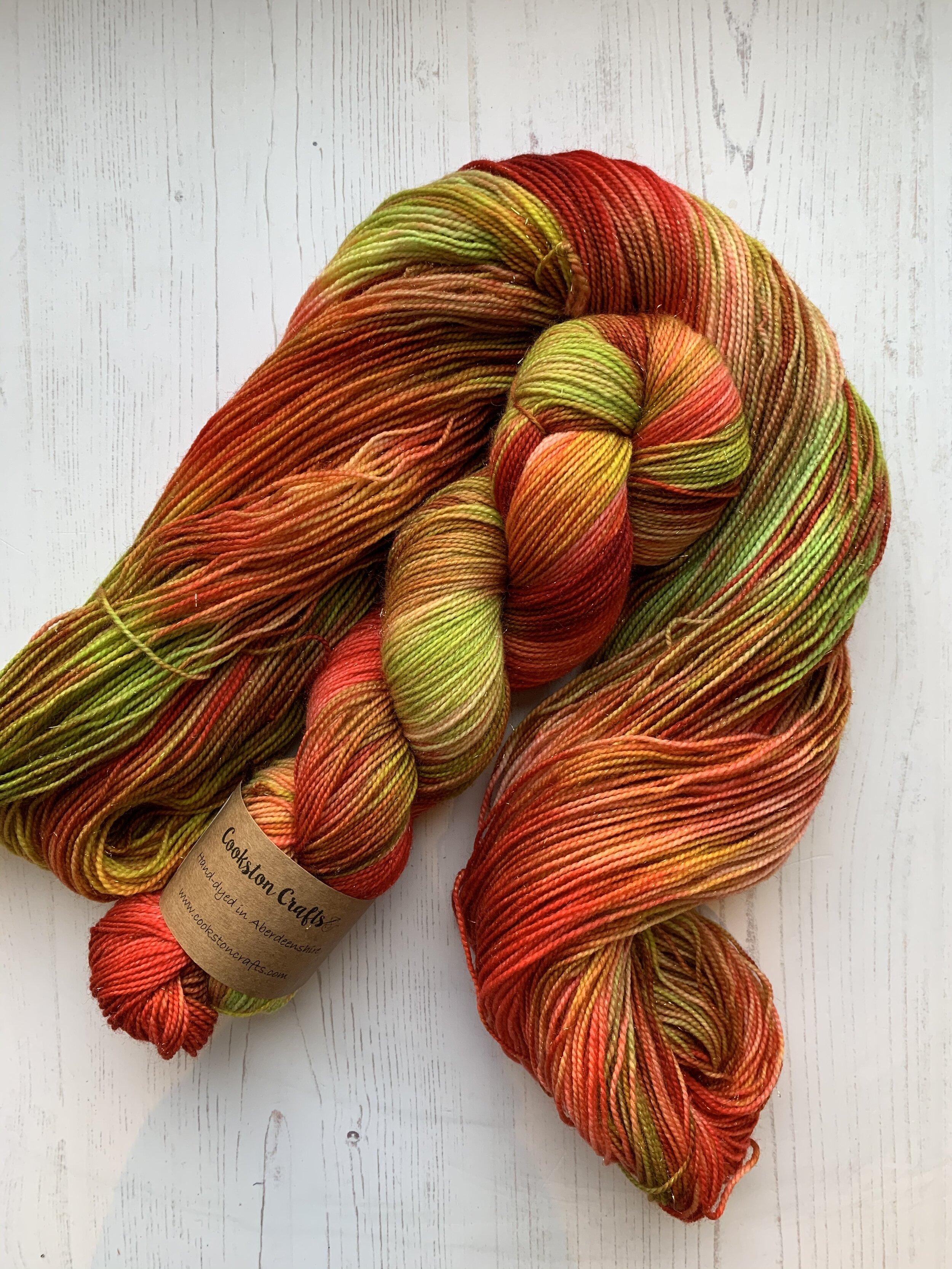 4-ply Hand dyed Merino Nylon Stellina yarn Sock weight SHIMMER 100g