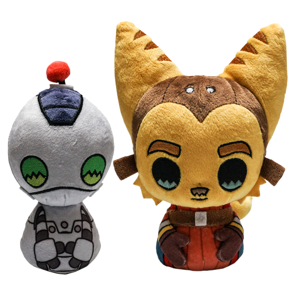 Ratchet Clank Plush Set Official Insomniac Games Store