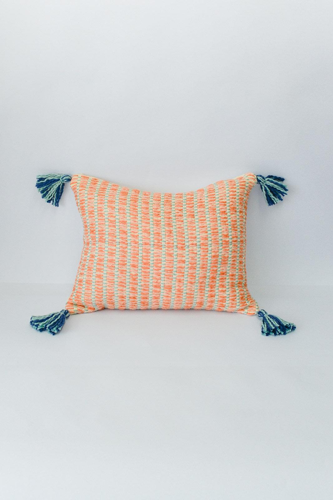 Handwoven Organic Cotton Pillow Zuahaza Colombian Home Textiles