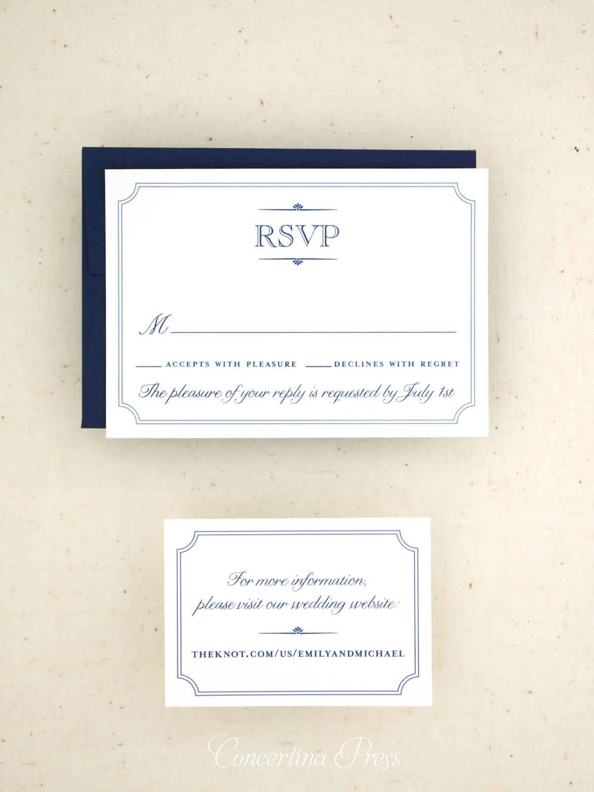 Simple Elegant Monogram Wedding Invitation — Concertina Press ...