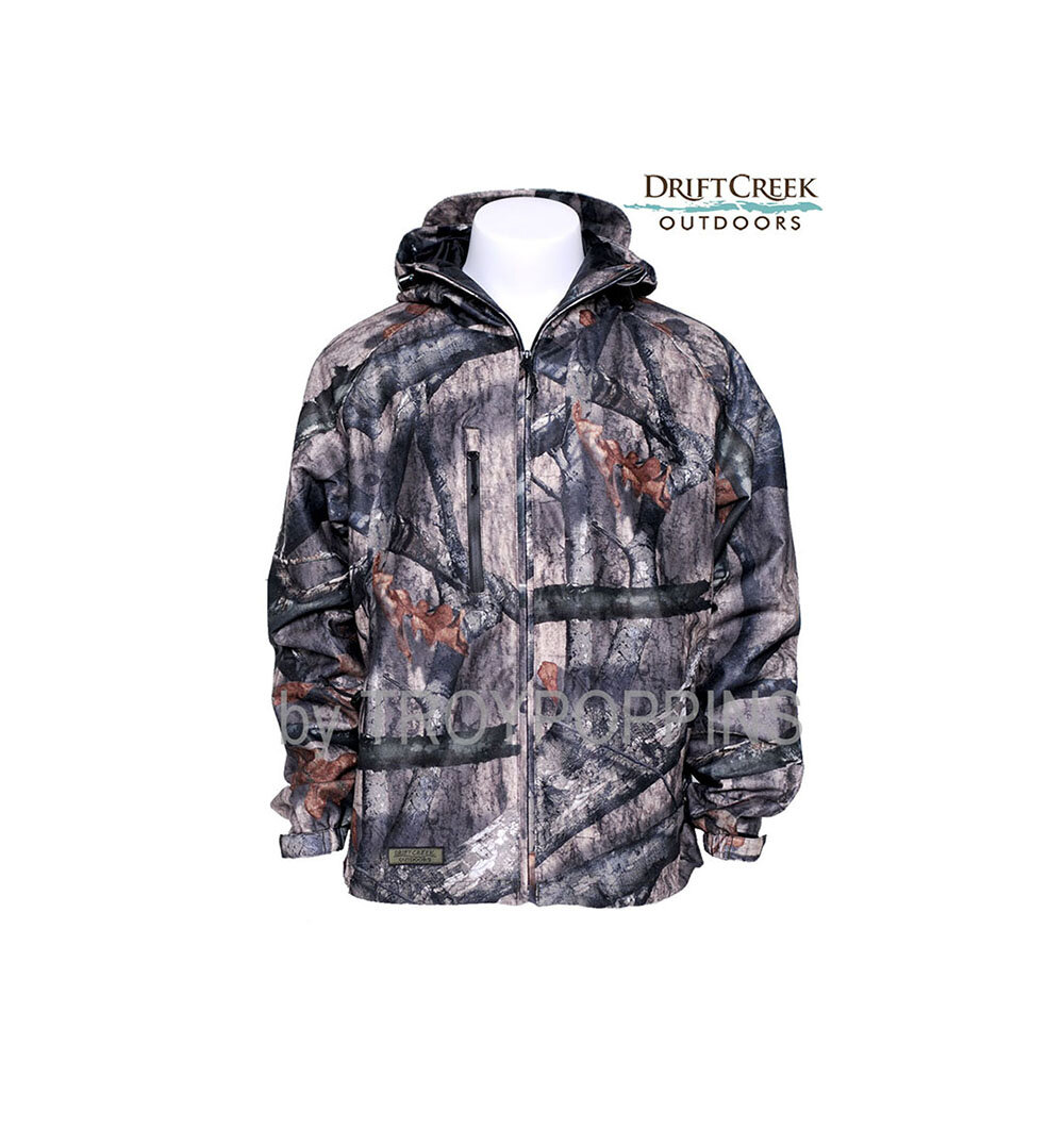 Mens Textile Jacket w//Mossy Oak Camo Chest Print