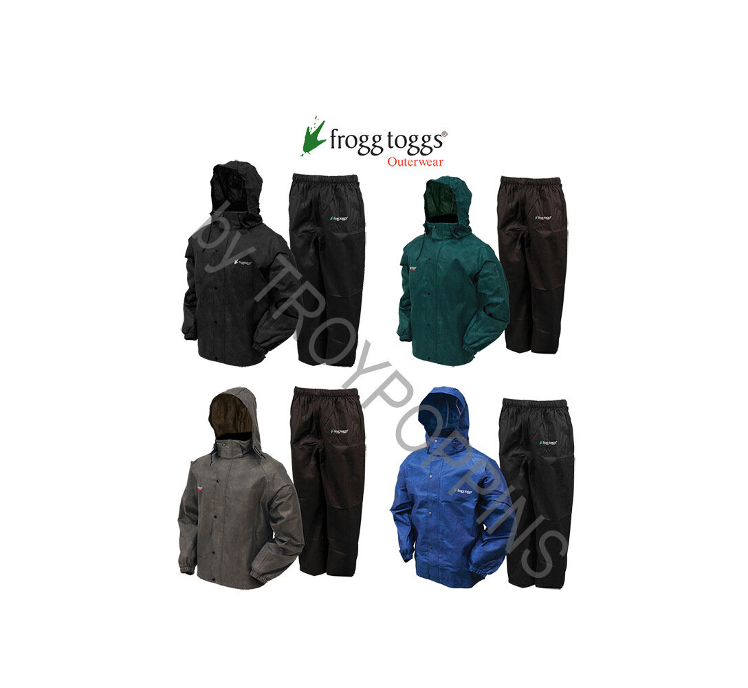 NEW FROGG TOGGS AS1310-109 All Sport Rain Suit GREEN//BLACK XL