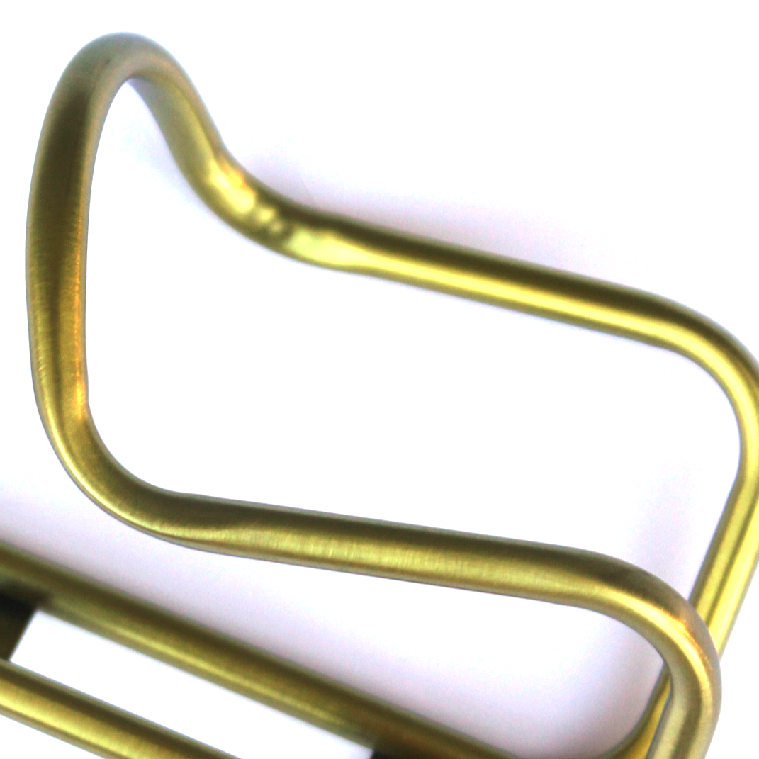 King Cage Titanium Water Bottle Cage Anodized Gold Made in Durango USA