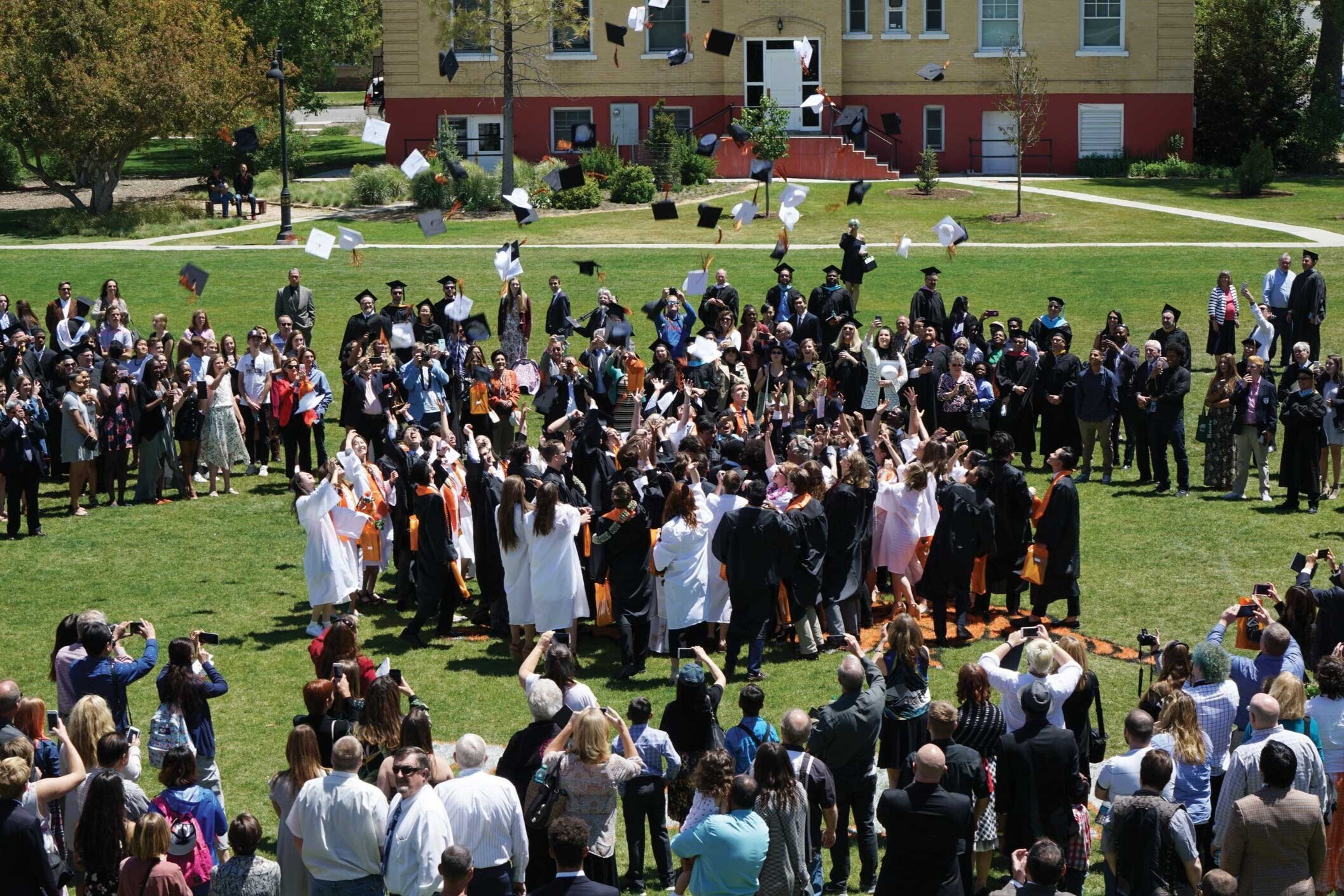 COMMENCEMENT - The Commencement ceremony on the quad is our most joyous tradition, during which all diplomas are formally conferred.
