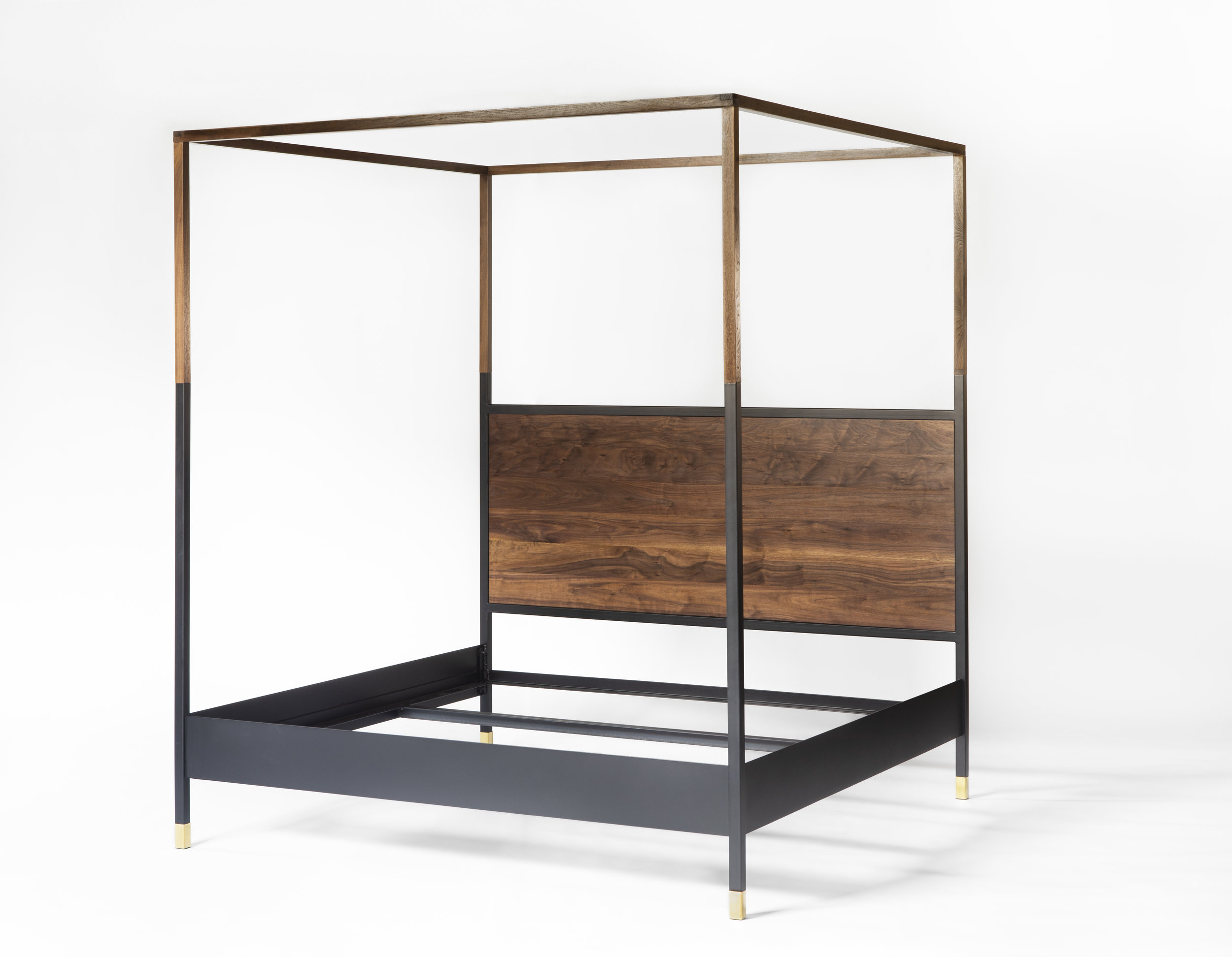 Metal Modern Canopy Bed, Modern Canopy Queen Metal Bed Instructions
