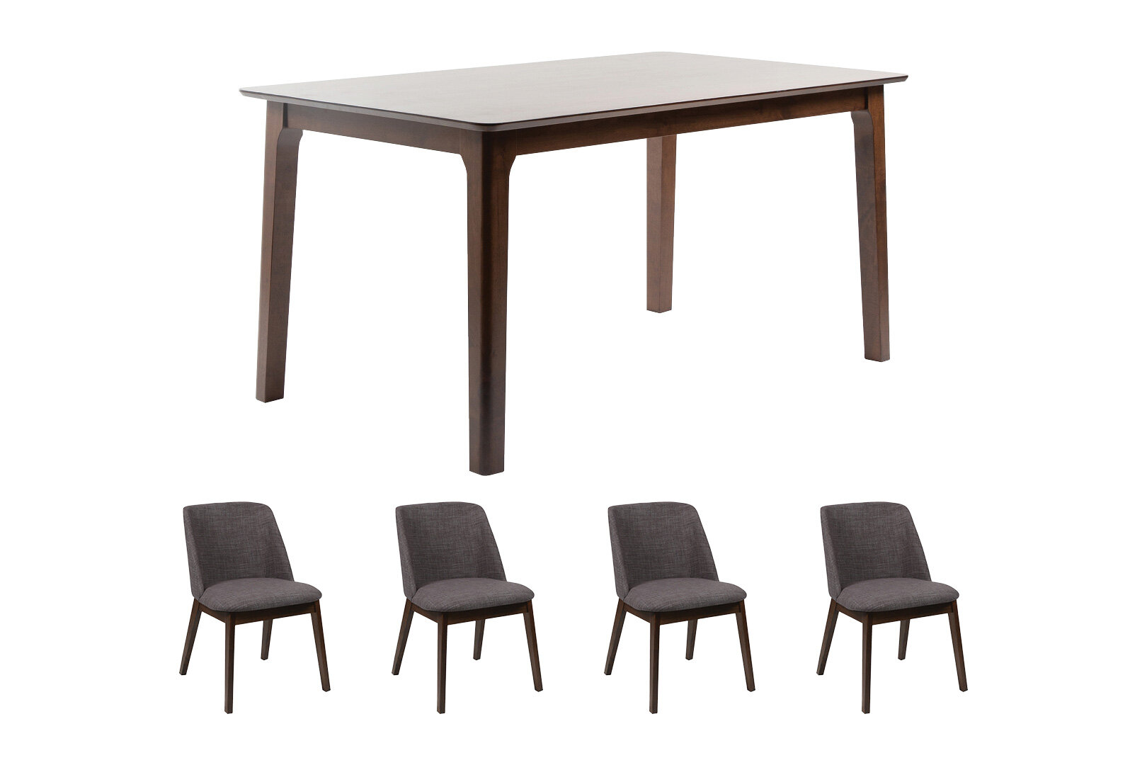 6 Seater Wooden Dining Table Set With 4